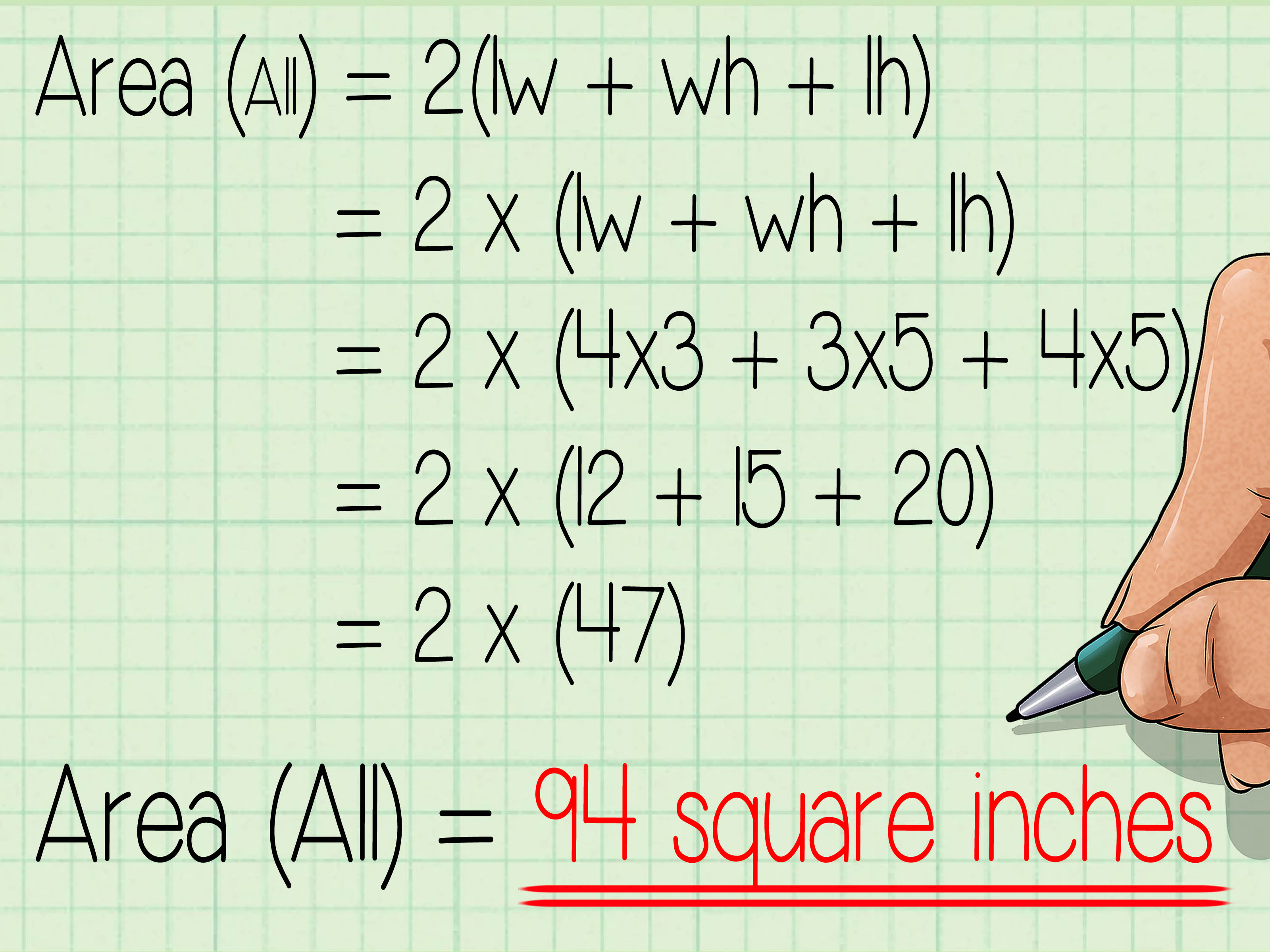 How To Calculate The Surface Area Of A Rectangular Prism