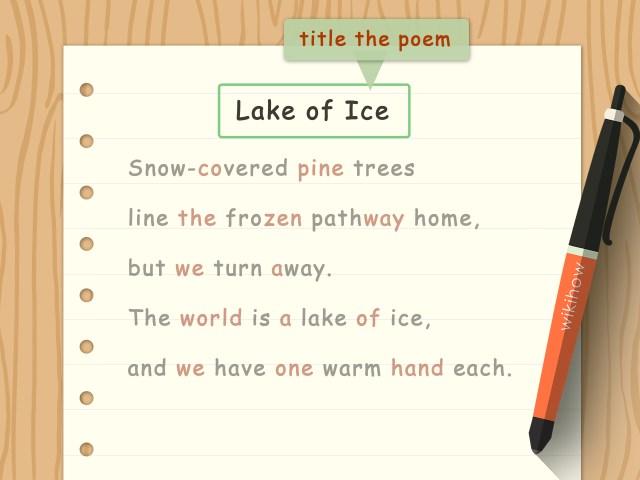 Ein Tanka Gedicht schreiben: 7 Schritte (mit Bildern) – wikiHow