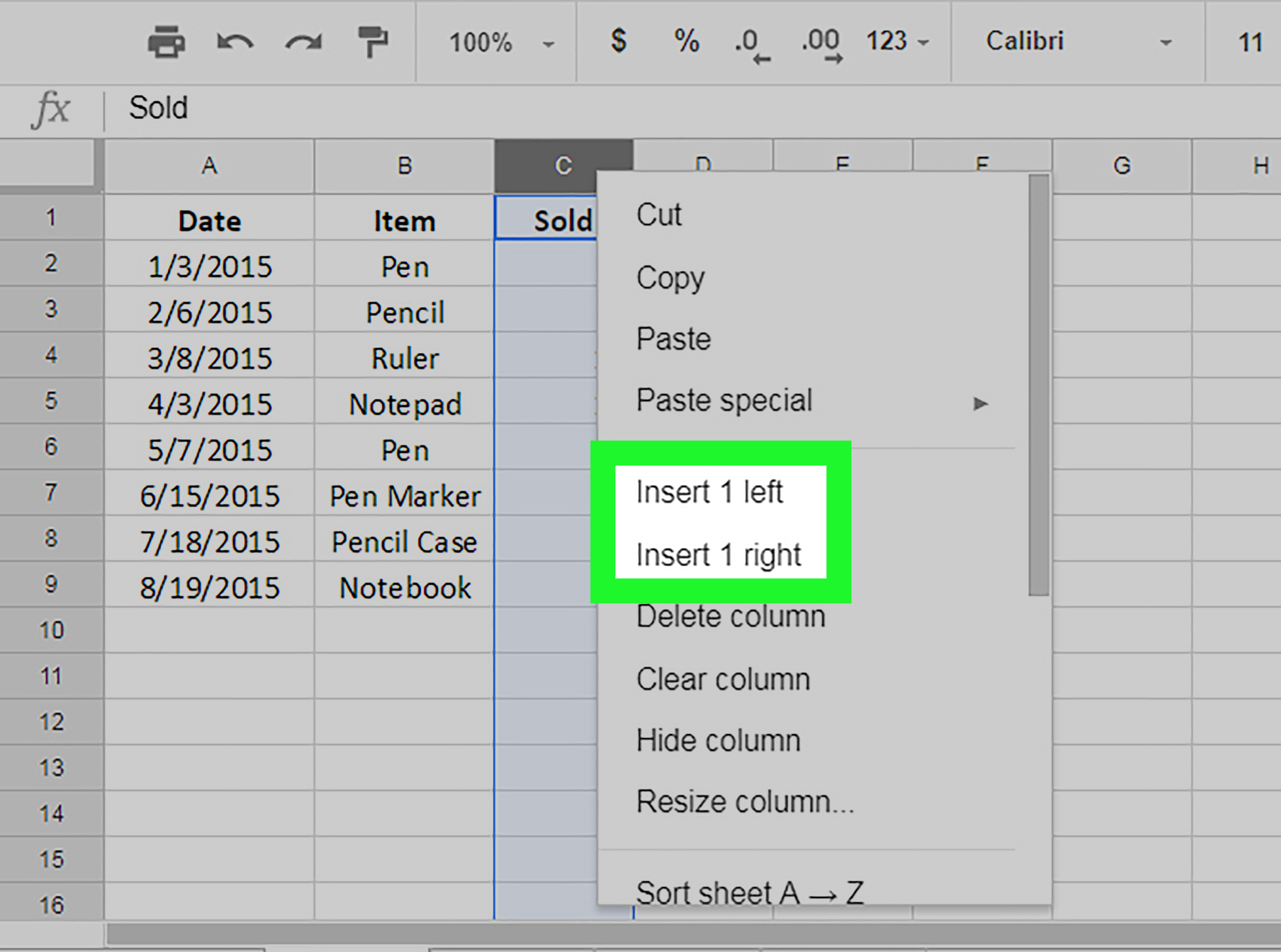 How To Add Columns On Sheets On Pc Or Mac 4 Steps