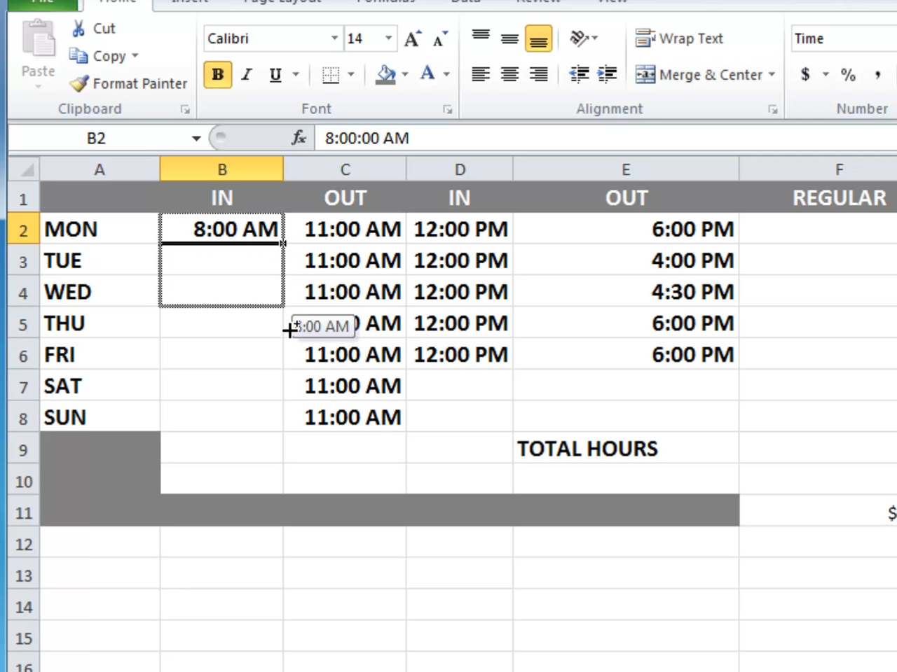 How To Calculate Time On Excel Spreadsheet
