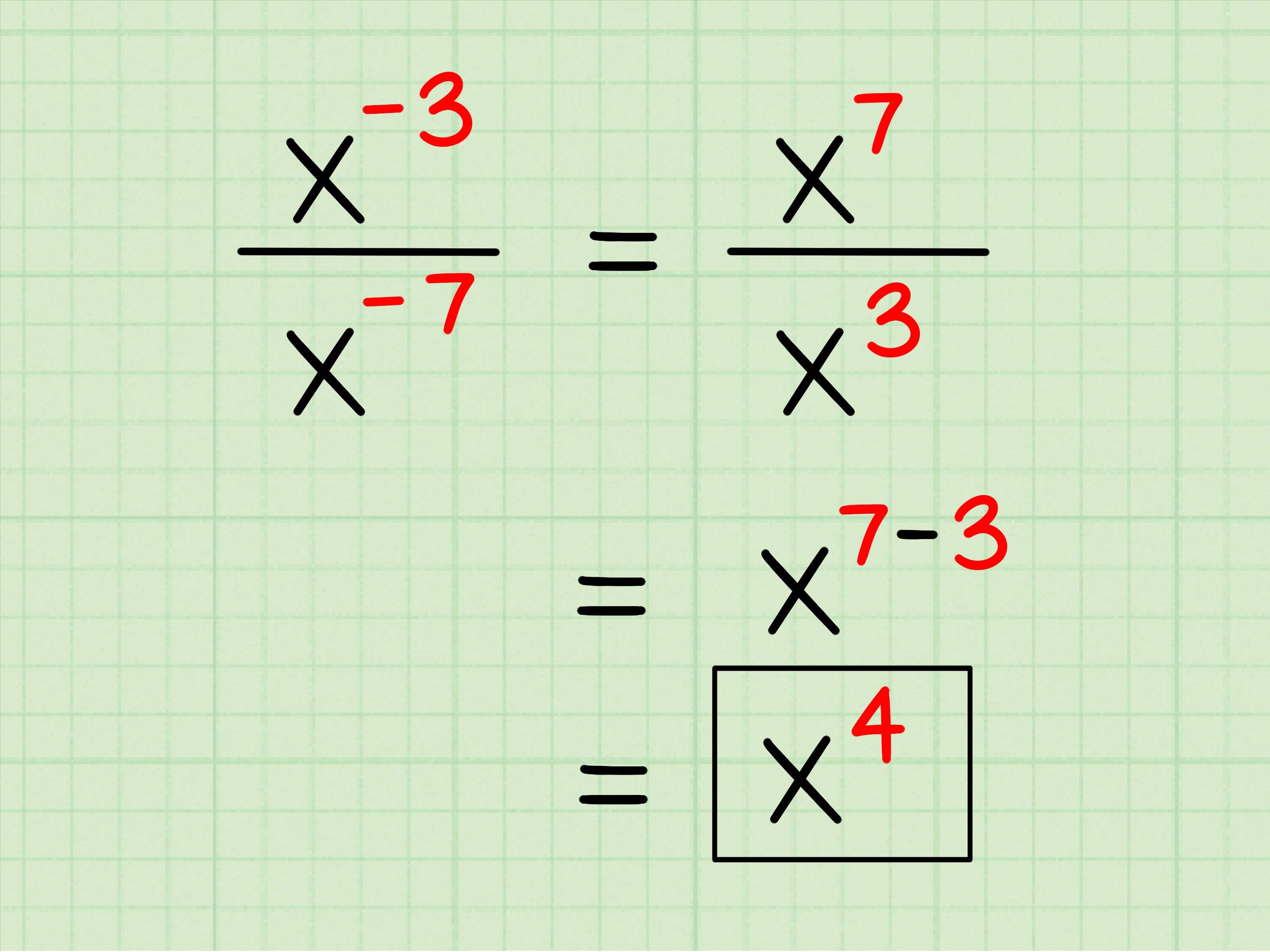 How To Divide Exponents 7 Steps With Pictures