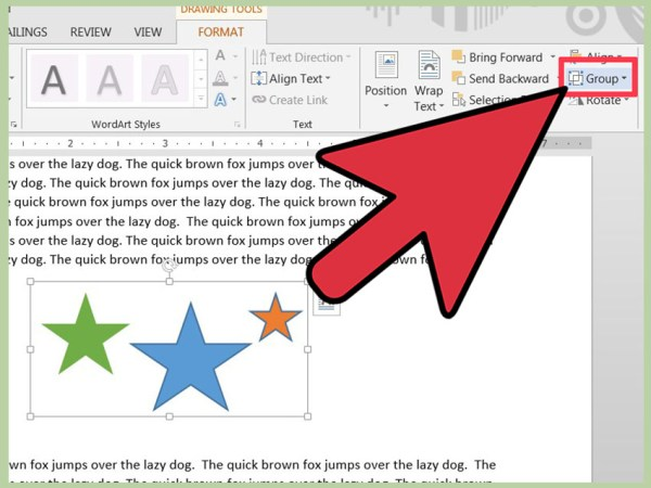 How to Group Objects on Microsoft Word 8 Steps with
