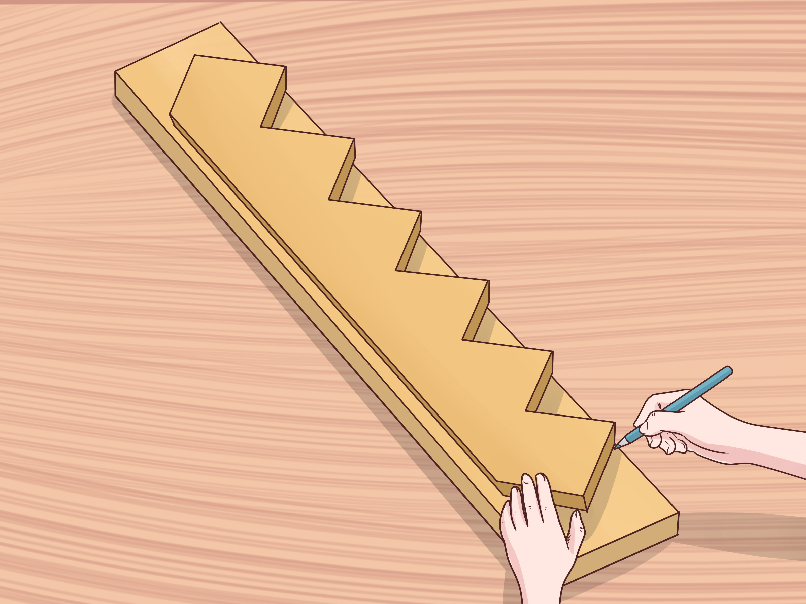 How To Cut Stair Stringers 15 Steps With Pictures Wikihow   Best Wood For Stair Stringers   Framing Square   Stair Landing   Pine Stair   Stair Tread   Deck