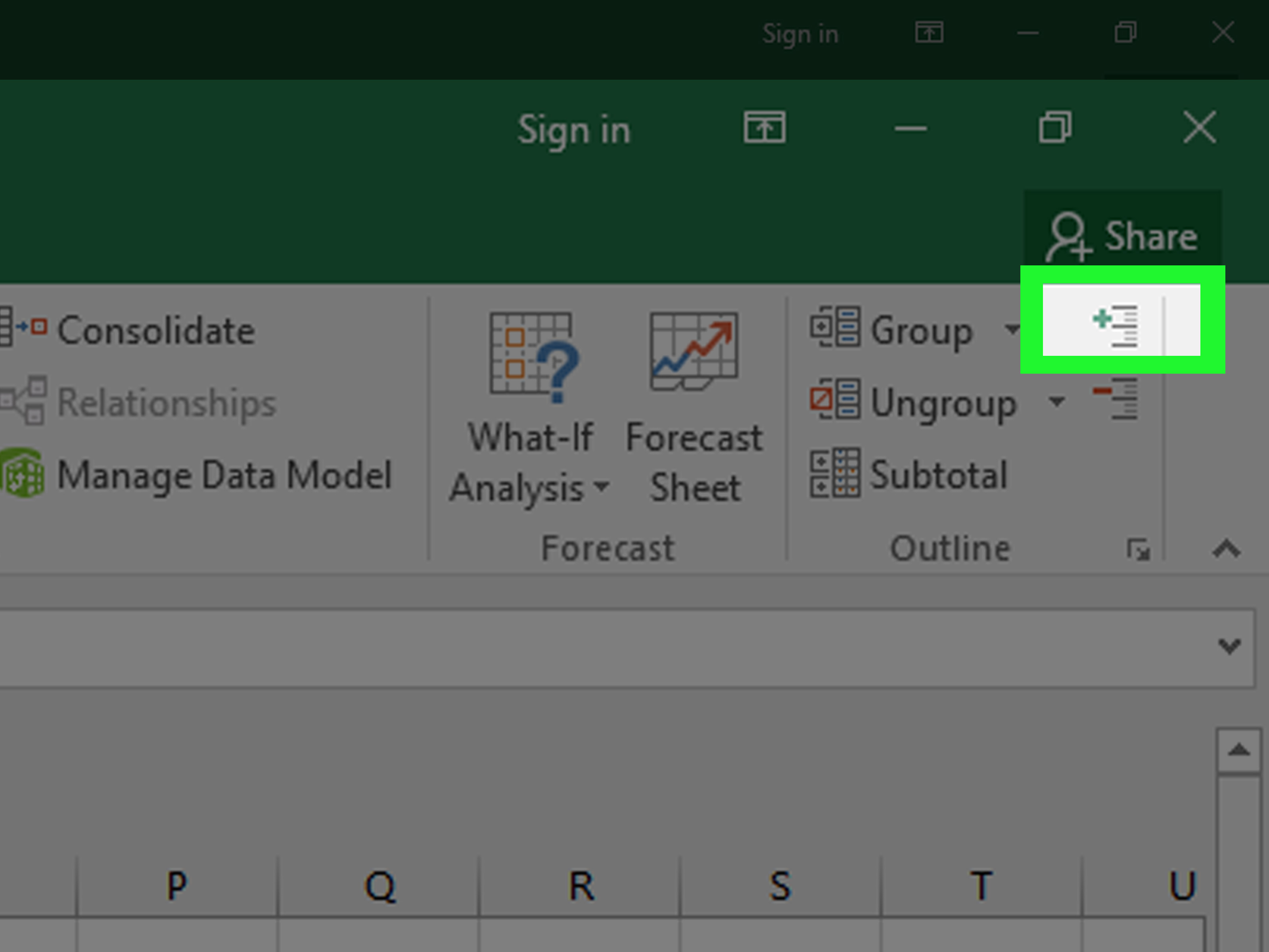 How To Collapse Columns In Excel 7 Steps With Pictures