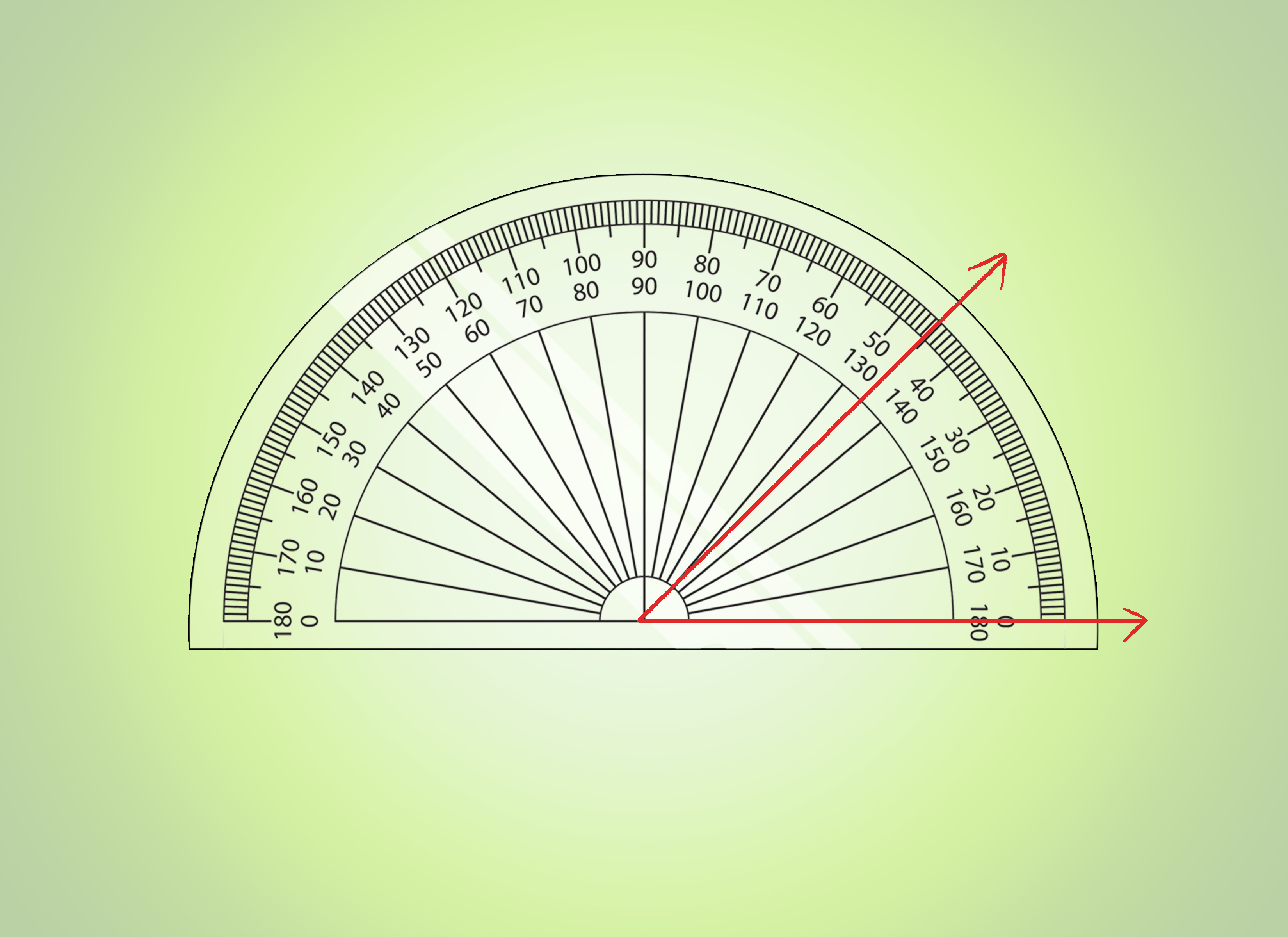 How To Make Angles In Math Using A Protractor 13 Steps