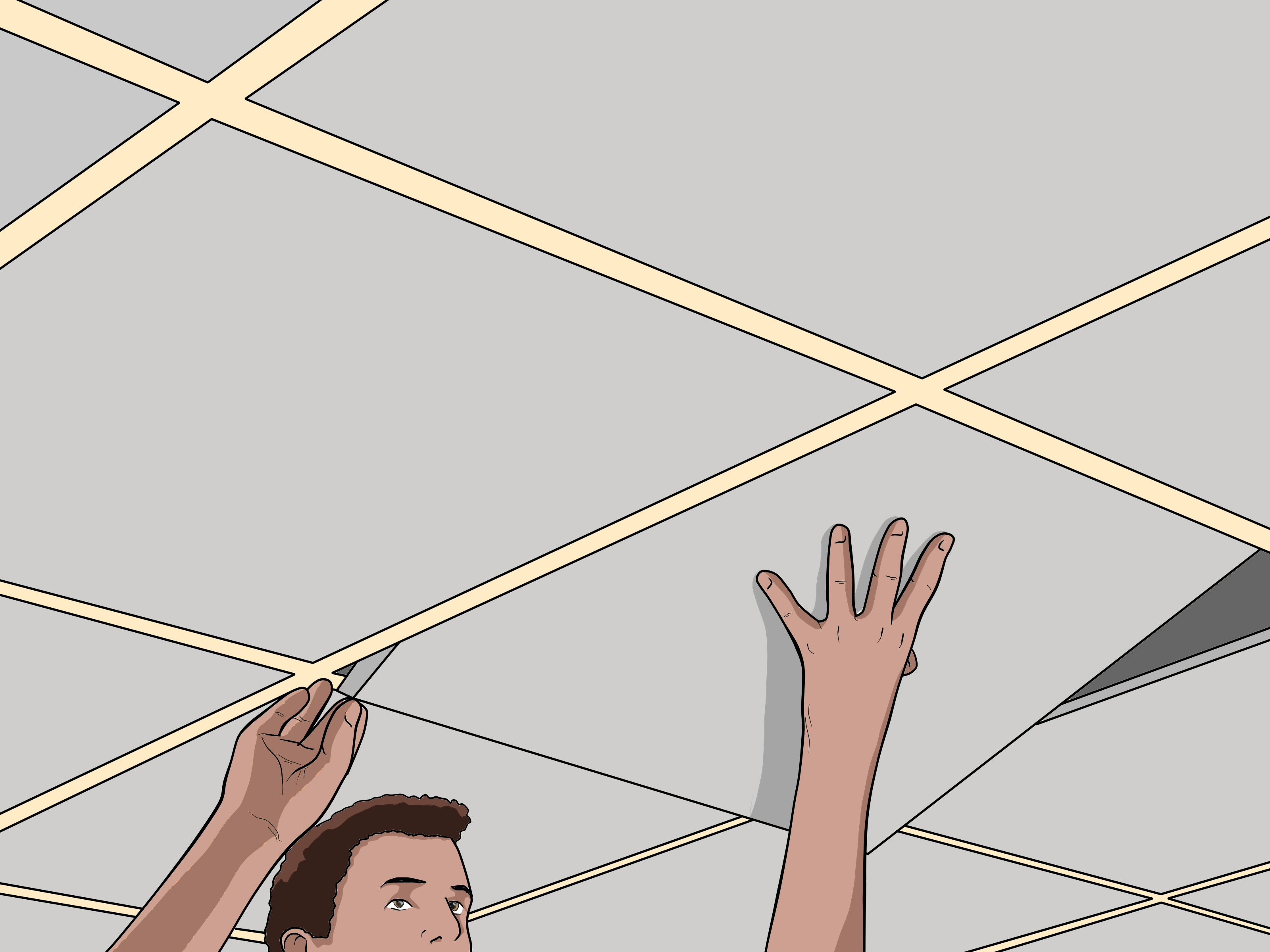 How To Remove A Ceiling Tile 7 Steps With Pictures