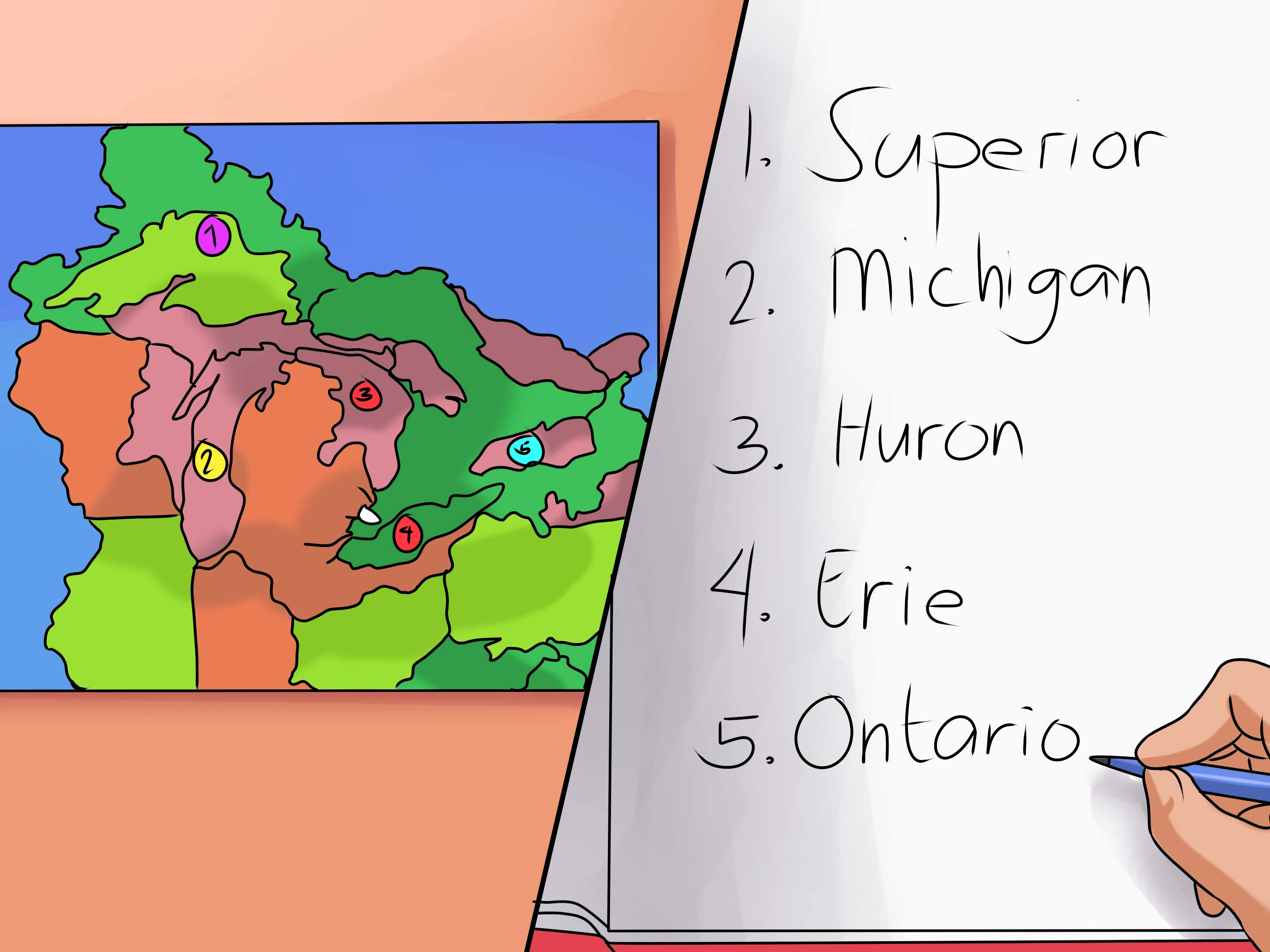 How To Remember The Five Great Lakes 9 Steps With Pictures