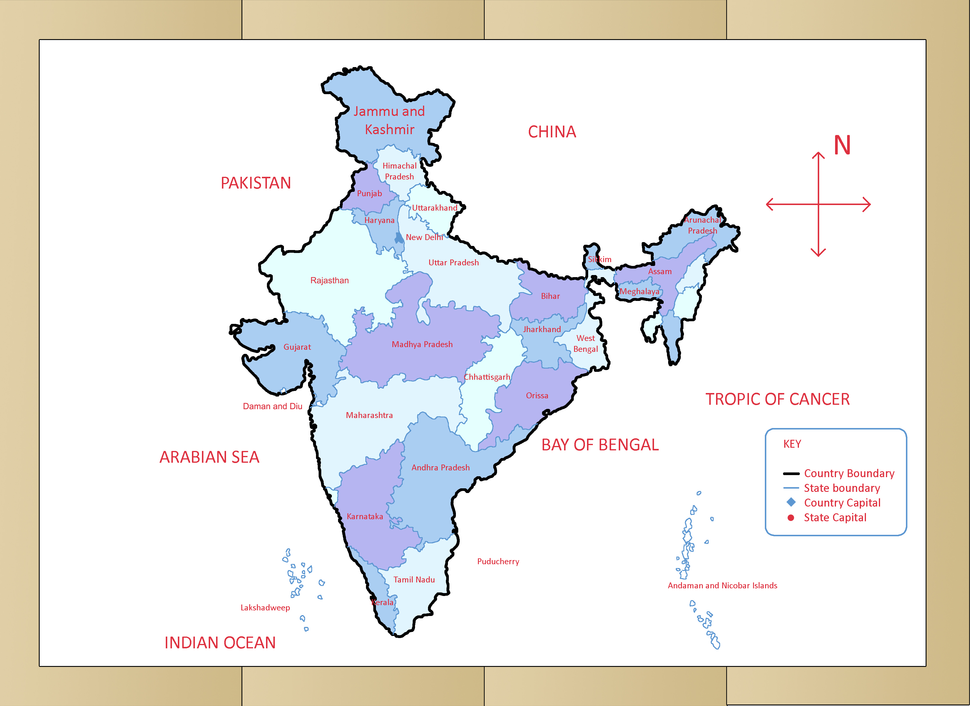 How To Draw The Map Of India With Pictures