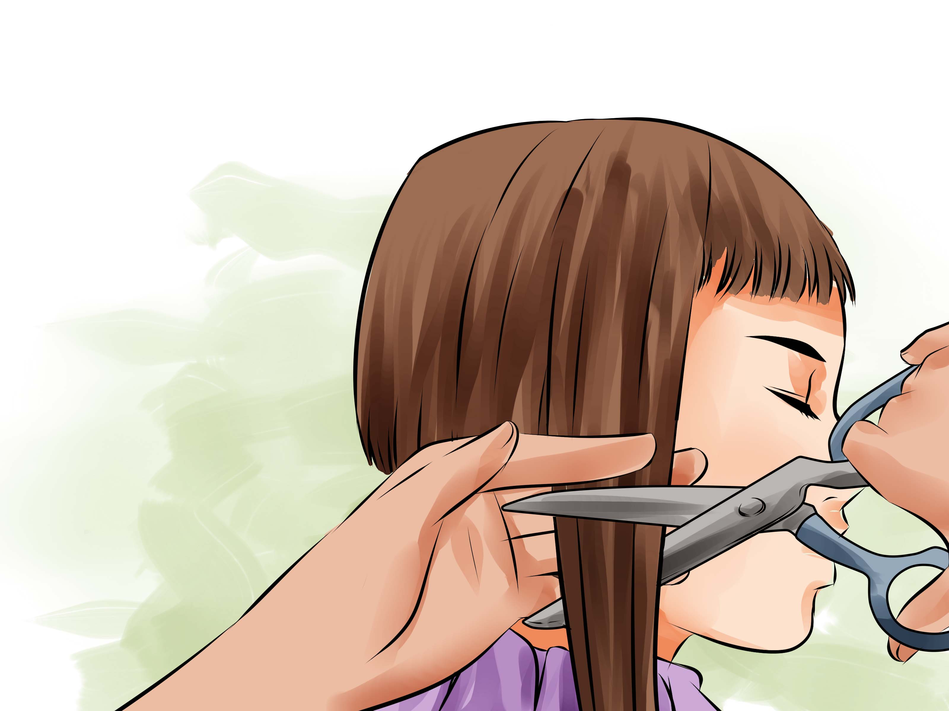 3 Ways To Cut The Back Of A Bob Haircut WikiHow