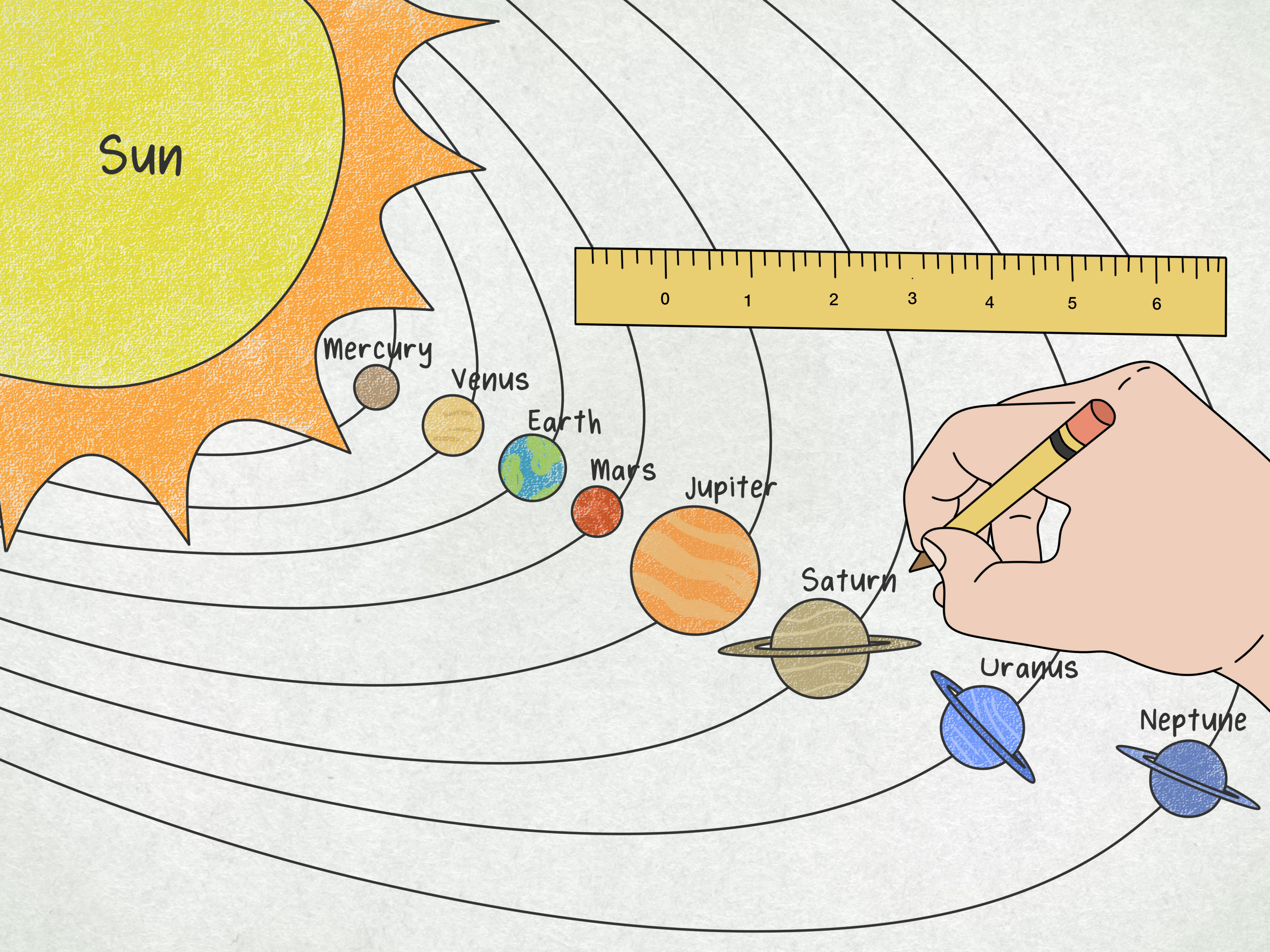 How To Draw The Solar System 14 Steps With Pictures