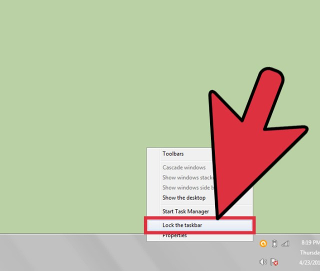 How To Change The Position Of The Taskbar In Windows 7