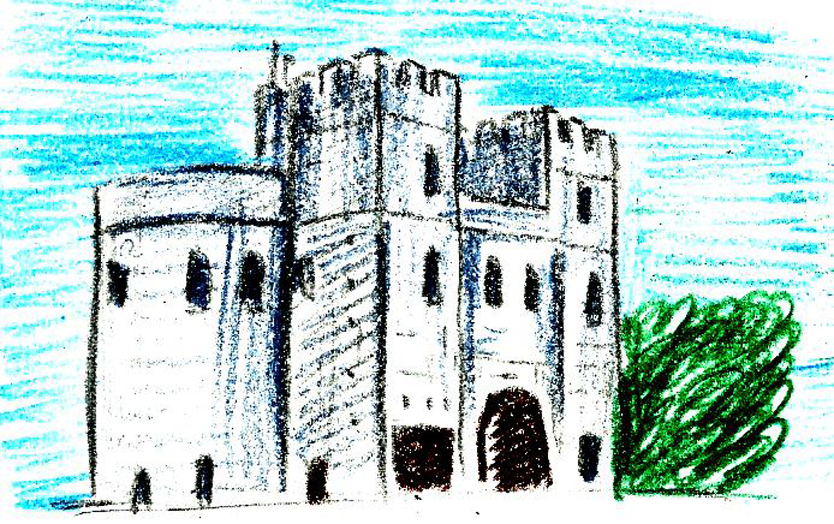 How To Draw A Me Val Castle 9 Steps With Pictures