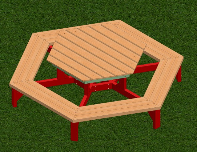 Hexagon Picnic Table Build Plans