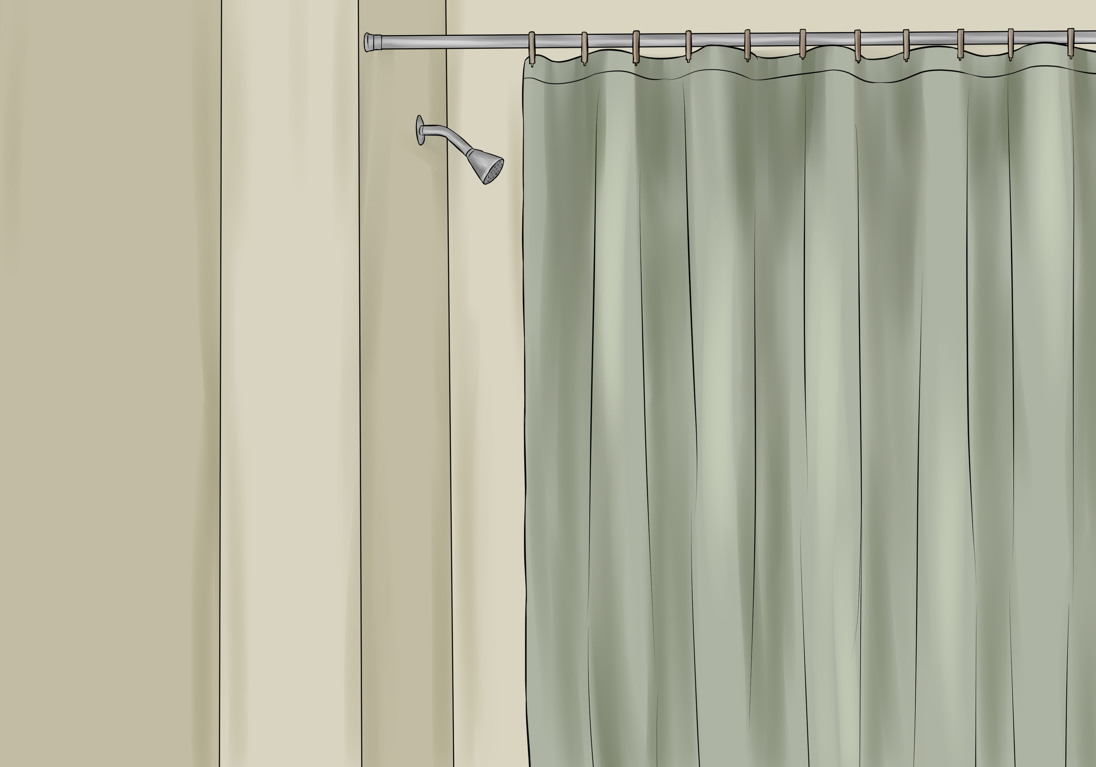 how to install a shower curtain 15