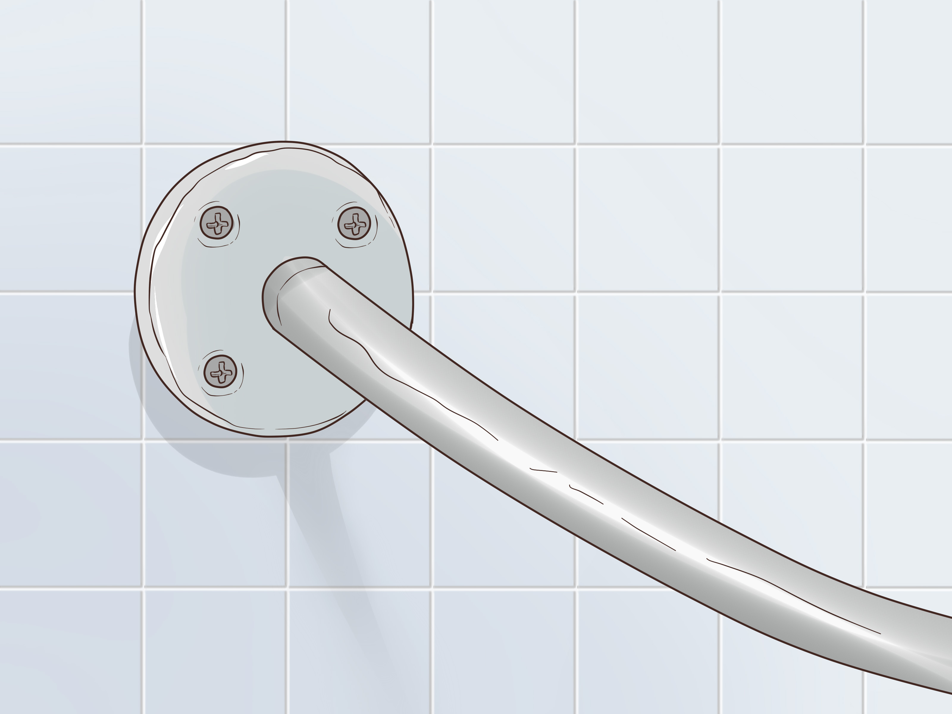 How To Install A Curved Shower Rod 10 Steps With Pictures