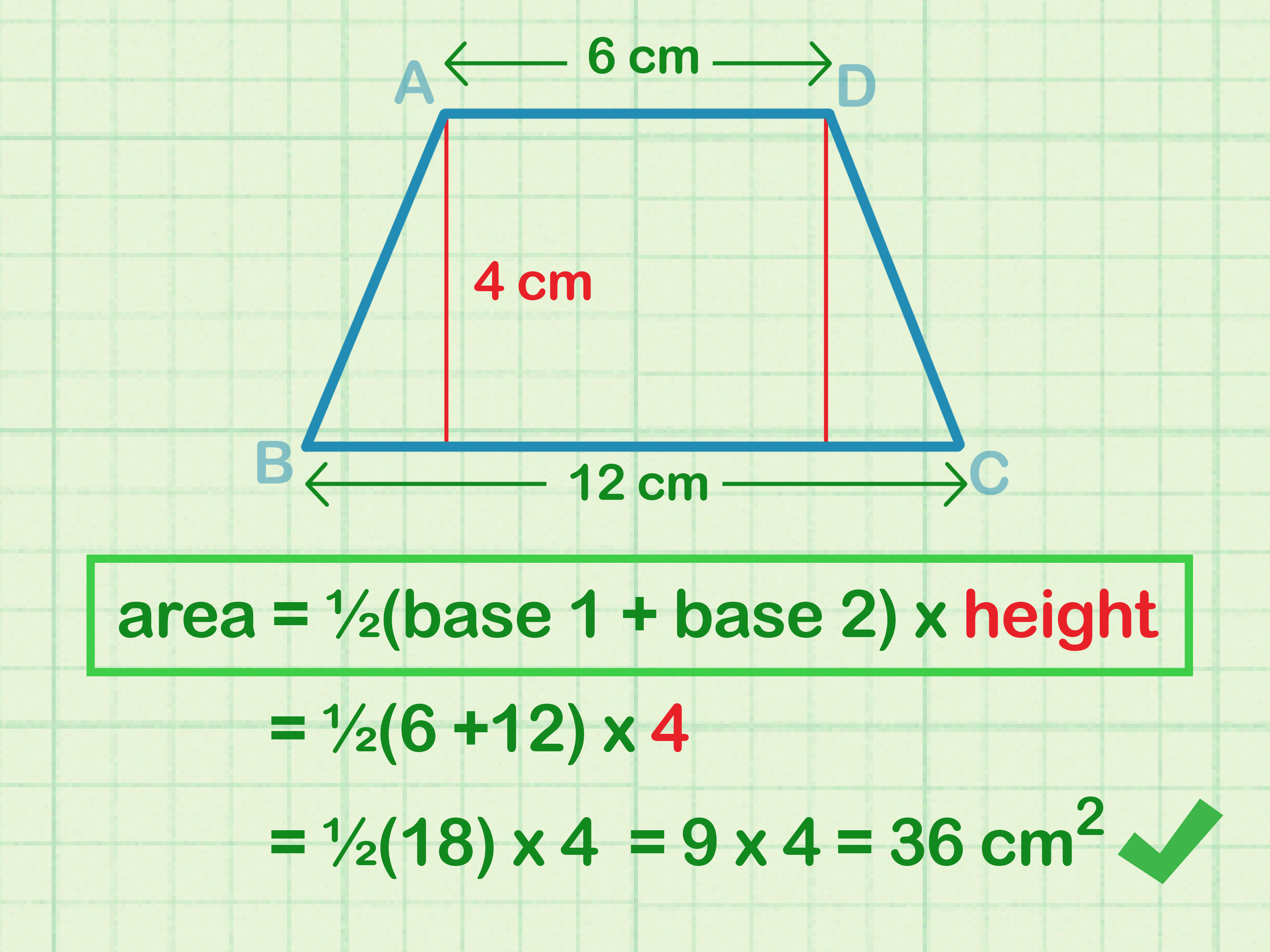 How To Calculate The Area Of A T Zoid 8 Steps With