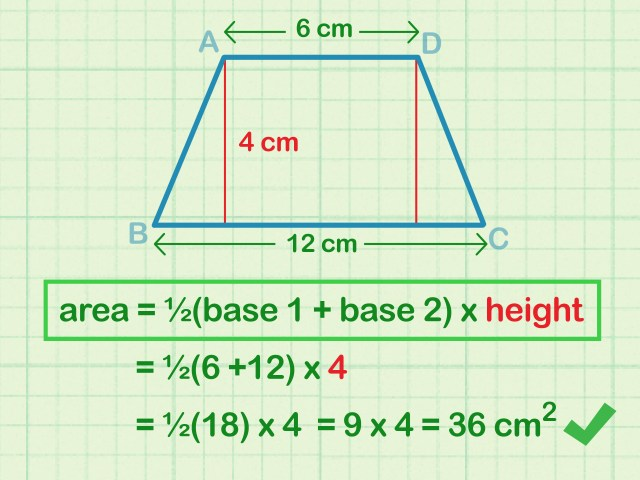 How to Calculate the Area of a Trapezoid: 21 Steps (with Pictures)