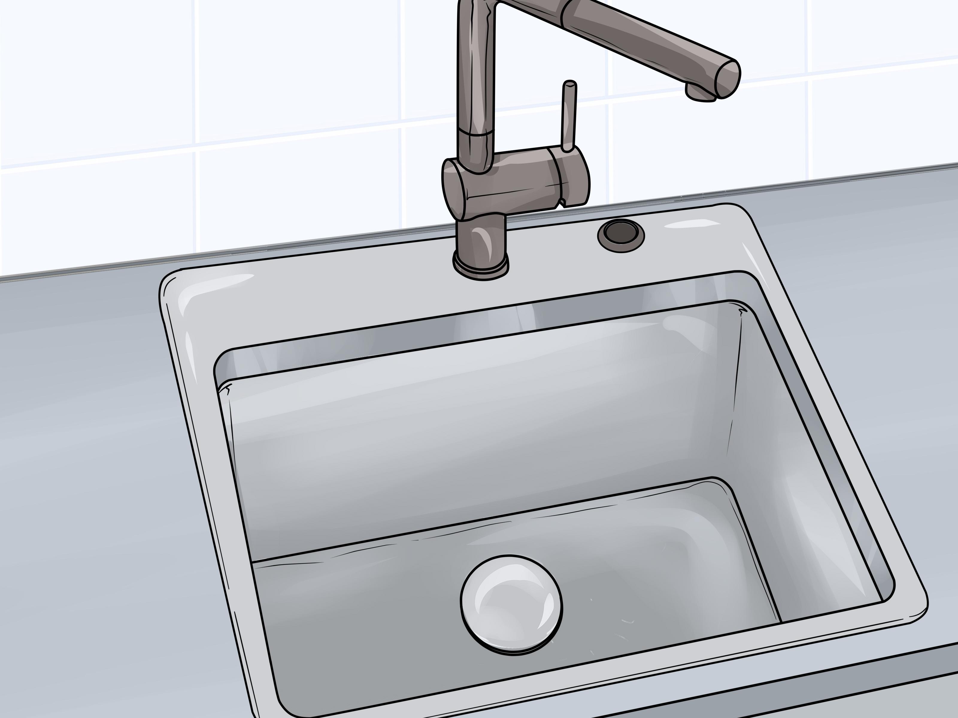 4 ways to fix your kitchen sink wikihow