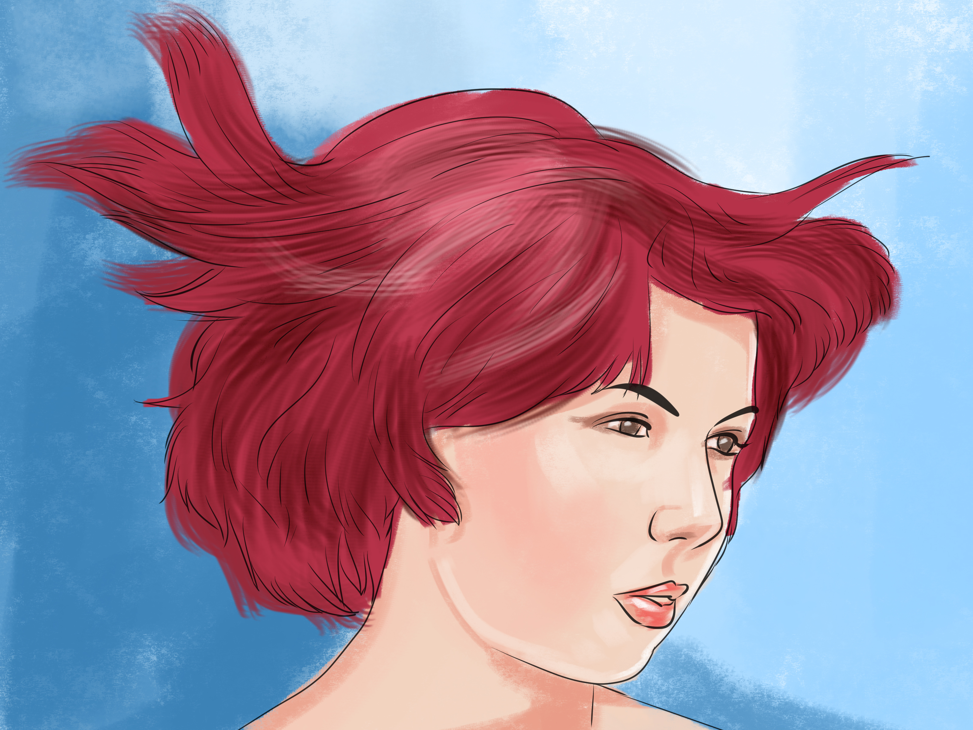 How To Dye Hair Bright Red 13 Steps With Pictures