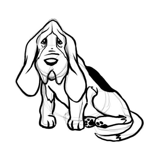 White Cartoon Dog Droopy Face   cartoon.ankaperla.com