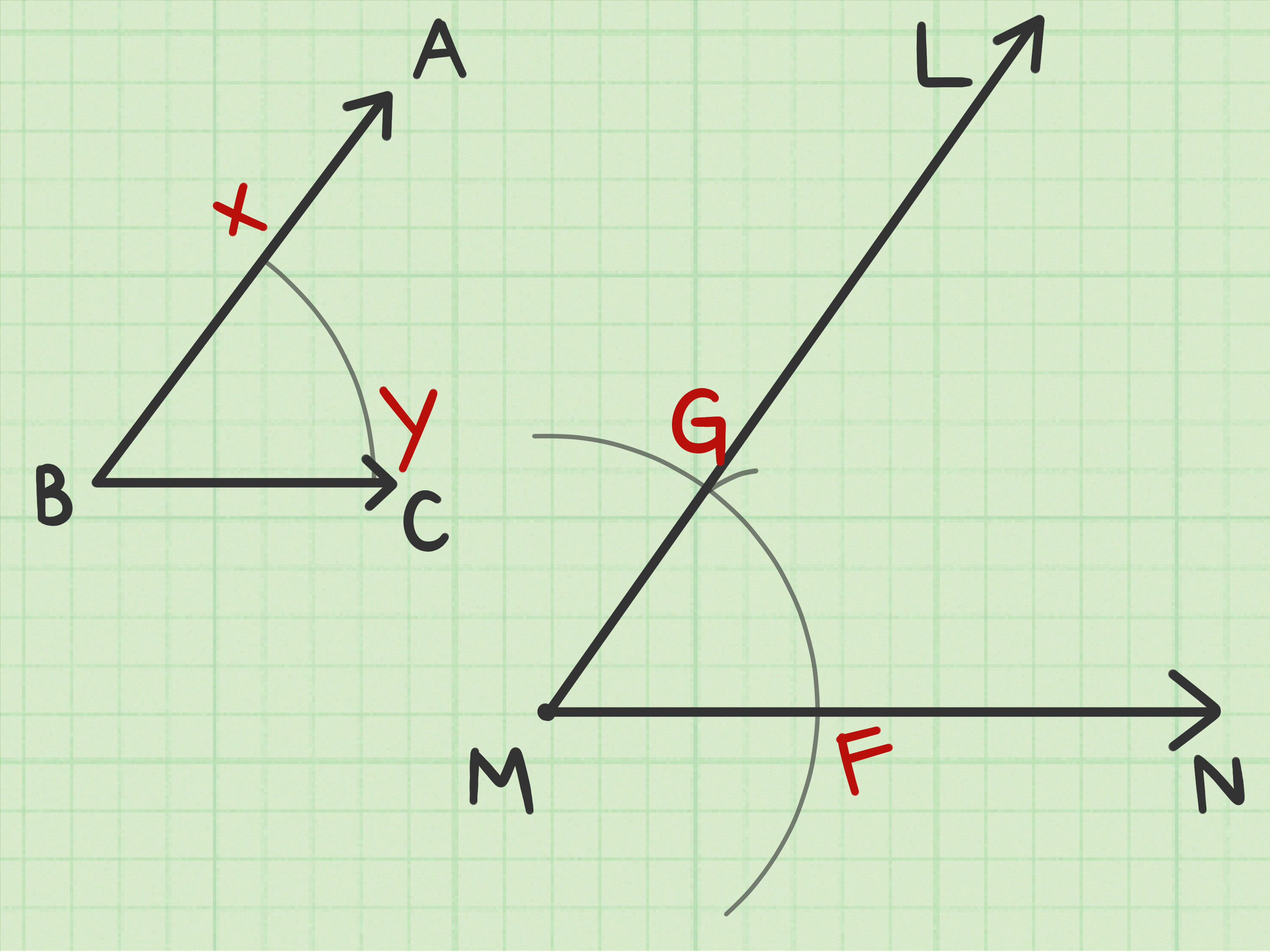 How To Construct An Angle Congruent To A Given Angle 12 Steps