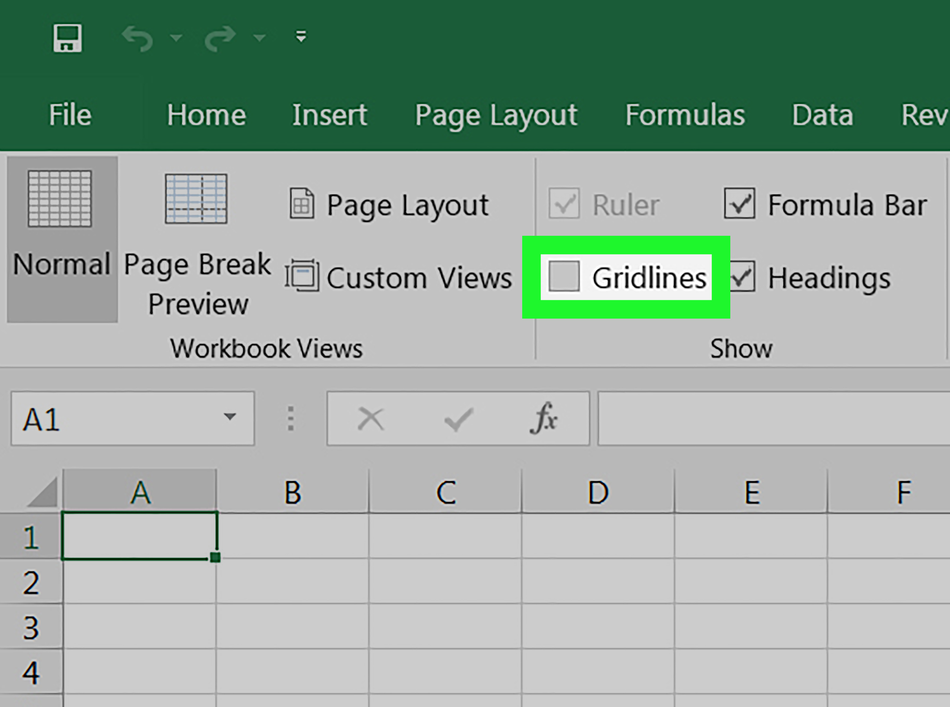How To Hide Gridlines In Excel On Pc Or Mac 4 Steps