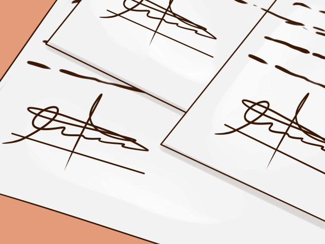 17 Ways to Forge a Signature - wikiHow