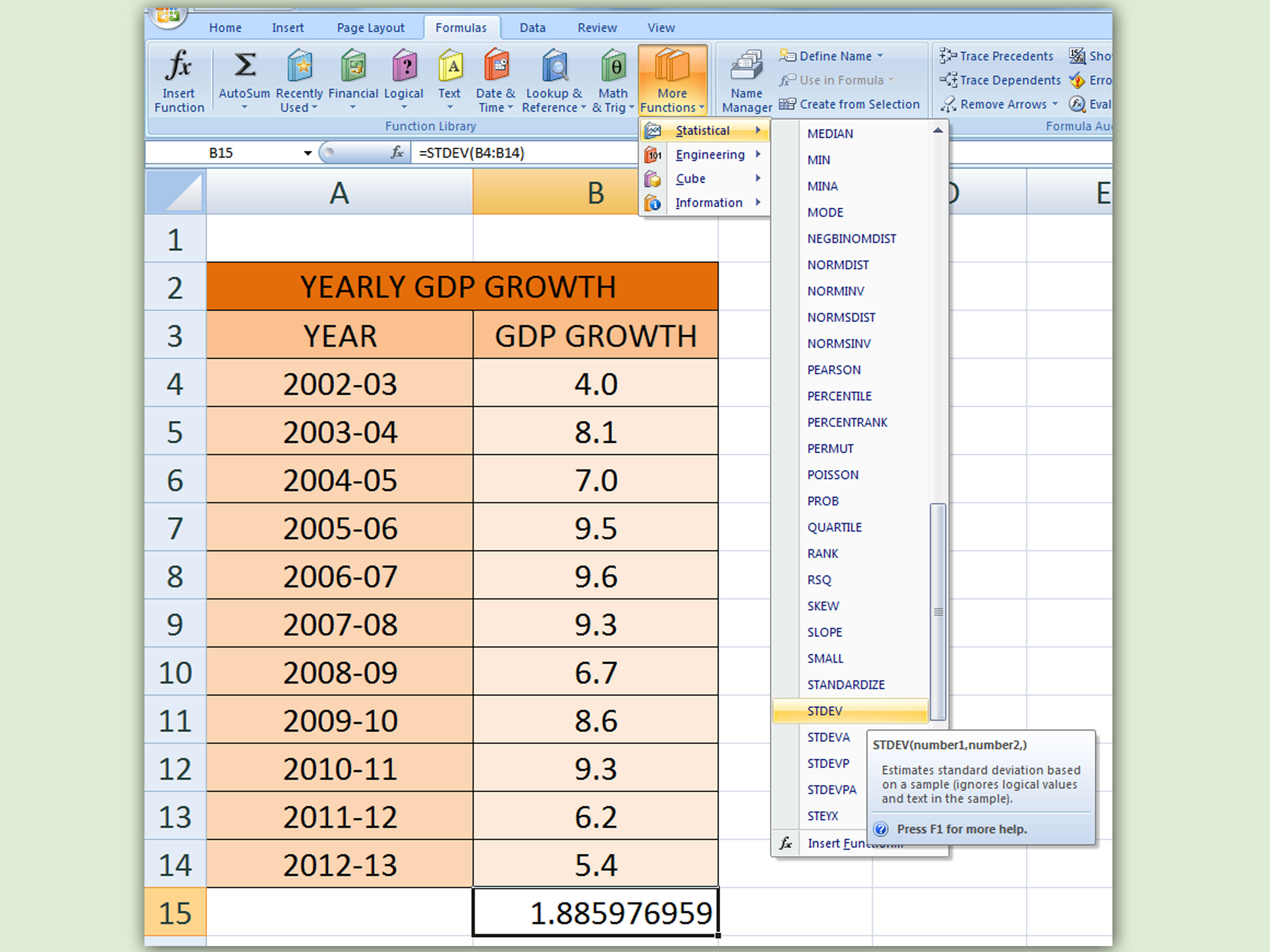 How To Calculate Standard Deviation In Excel 10 Steps