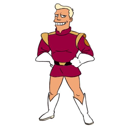 How To Draw Zapp Brannigan From Futurama 7 Steps With