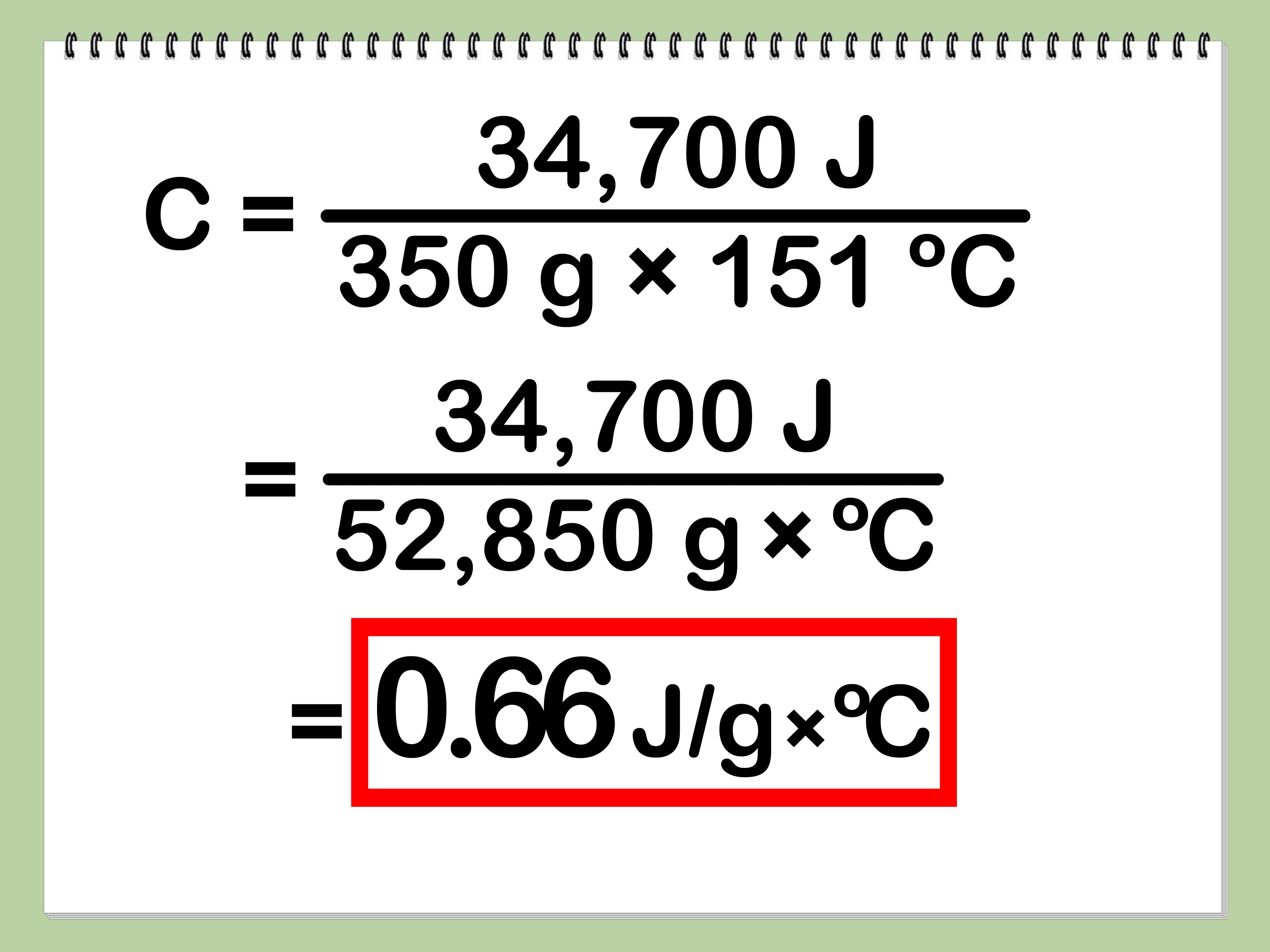 How To Calculate Specific Heat With Calculator