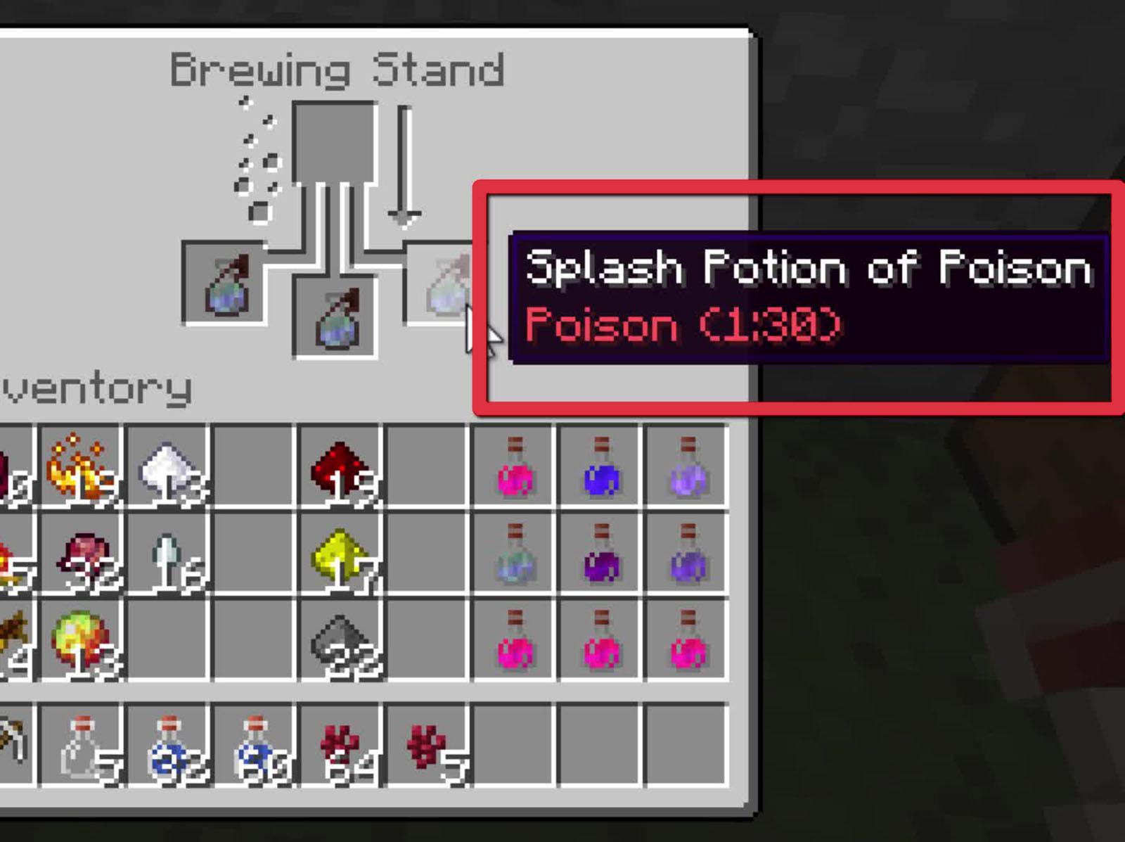 Brewing Stand Recipes Minecraft