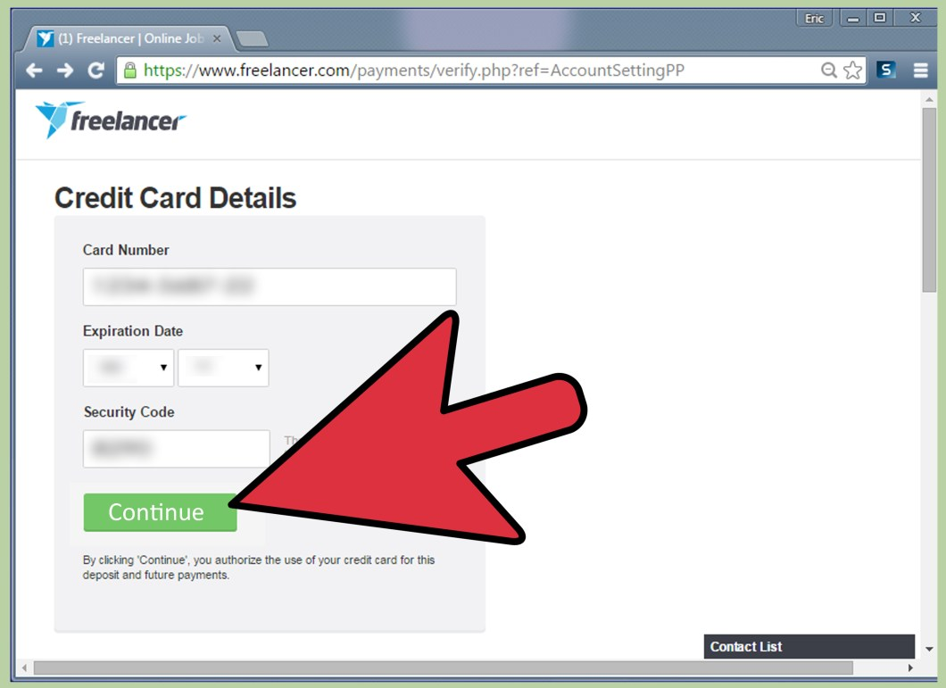 Verify Code Credit Card Giftcard Paypal Vcc 2 Year Verif How To Your On Freelancer 13 Steps