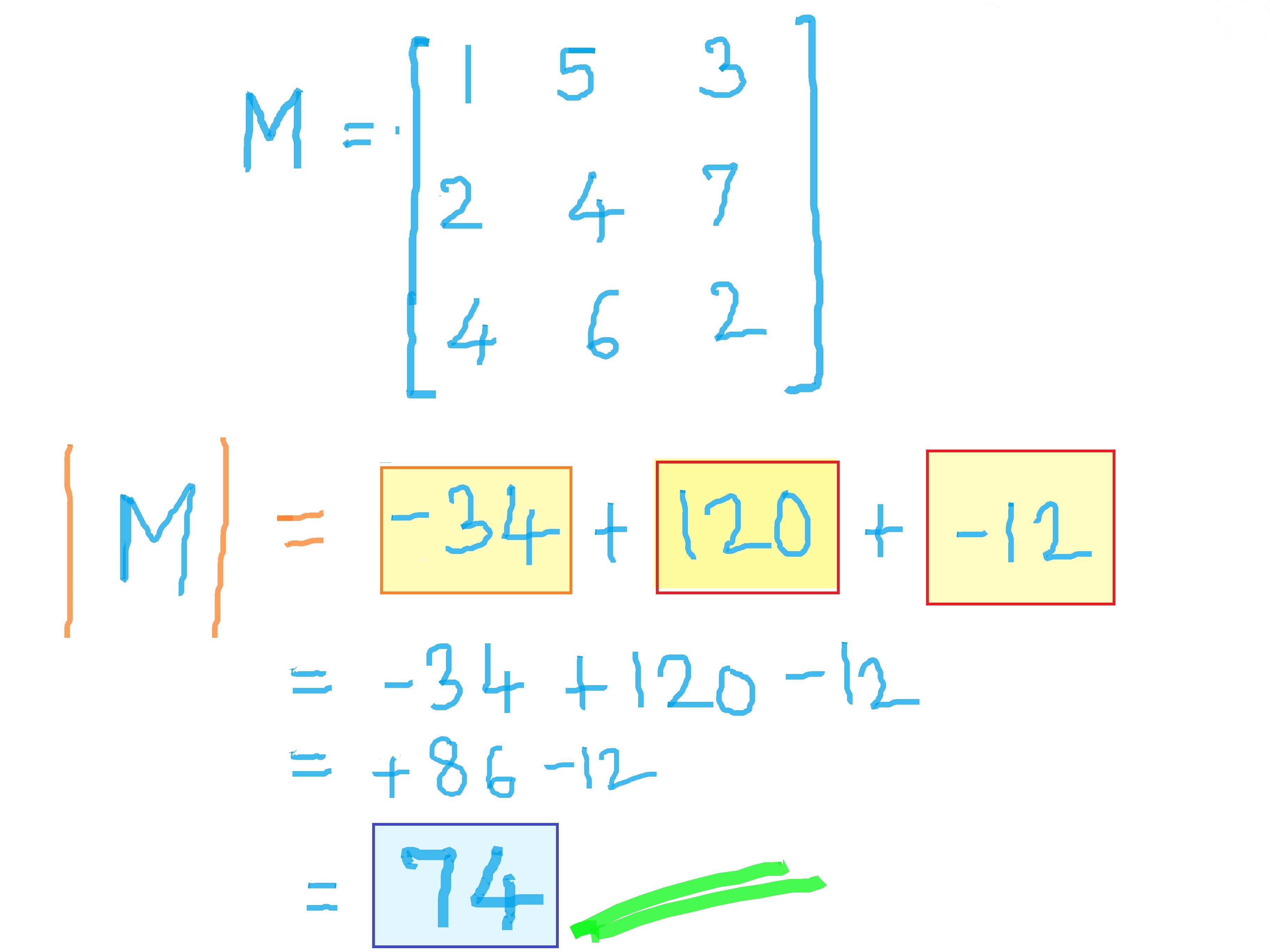 Download Determinant Of A 3x3 Matrix Calculator