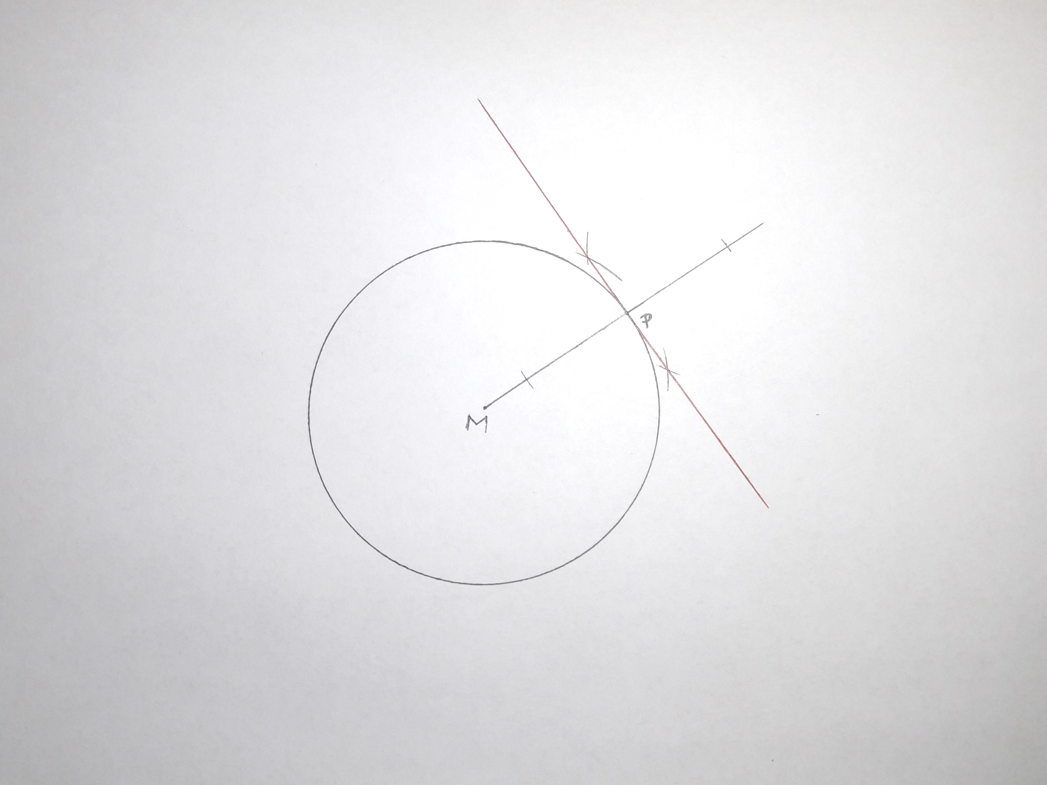 How To Construct The Tangent Line To A Circle 11 Steps