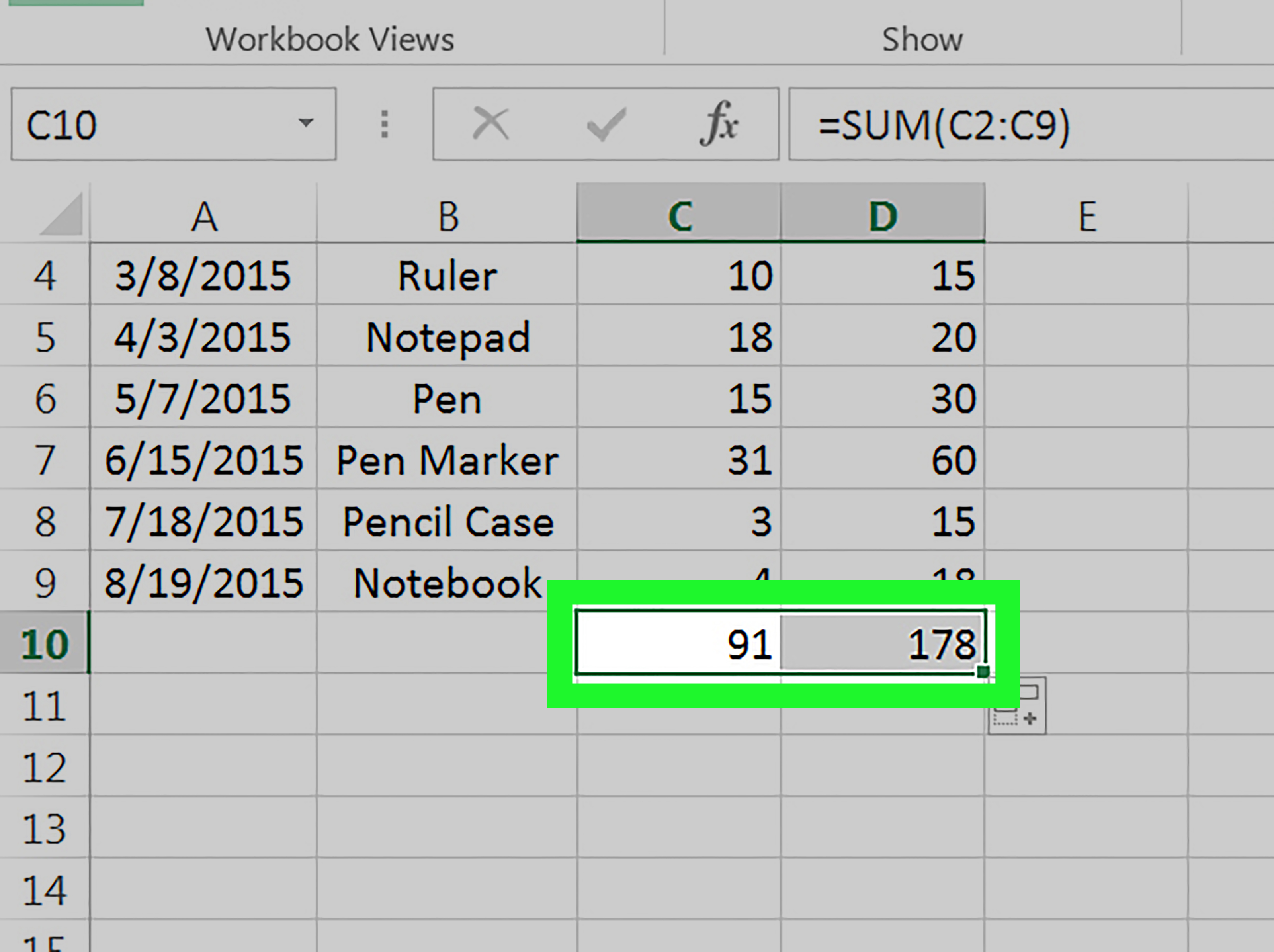 How To Drag And Copy A Formula In Excel 4 Steps With Pictures