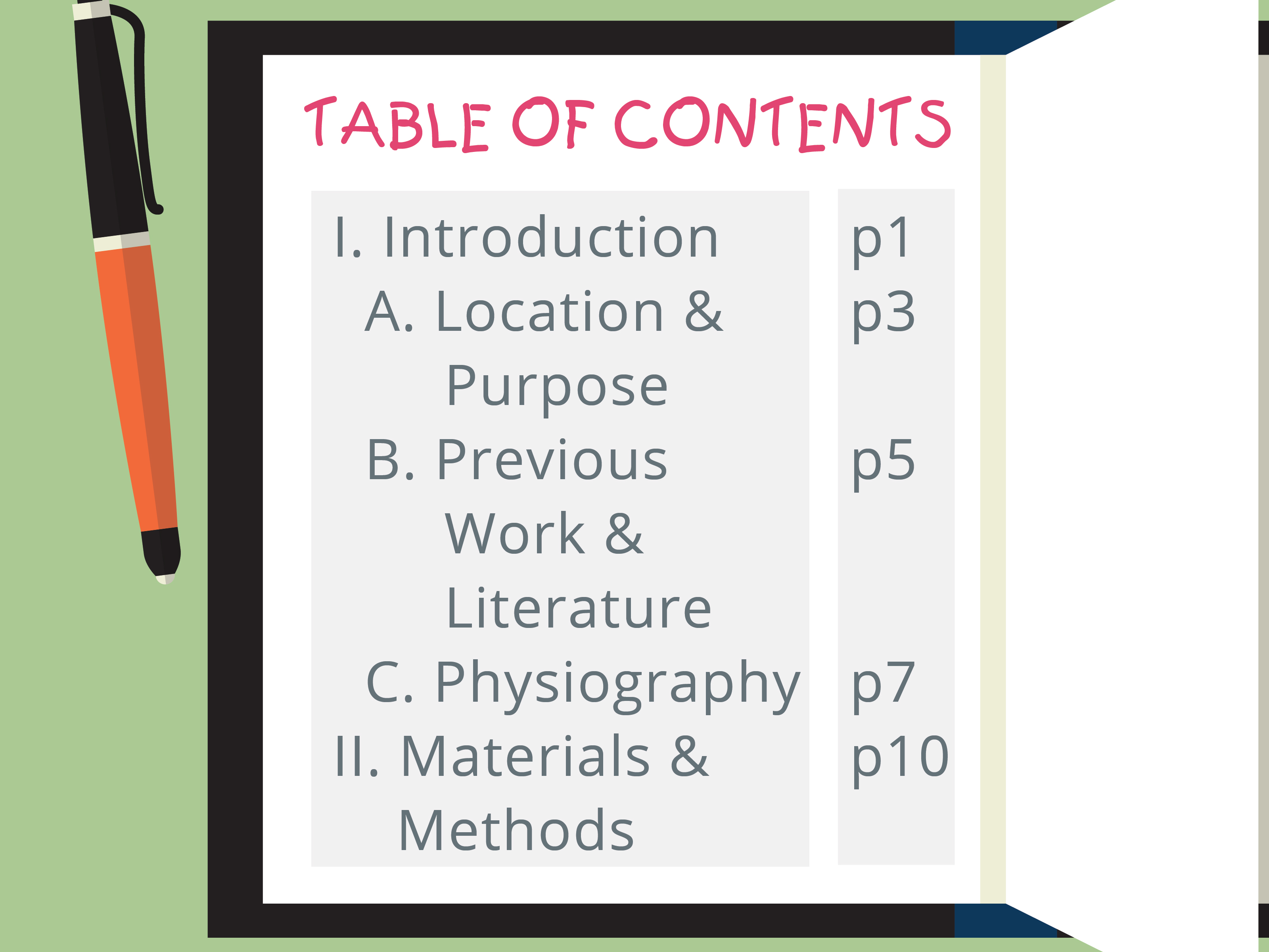 How To Write A Table Of Contents With Examples