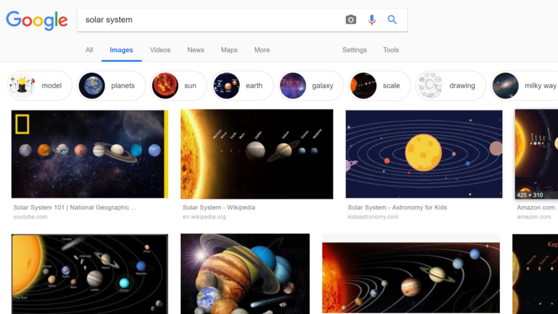 Solar System For Grade 6