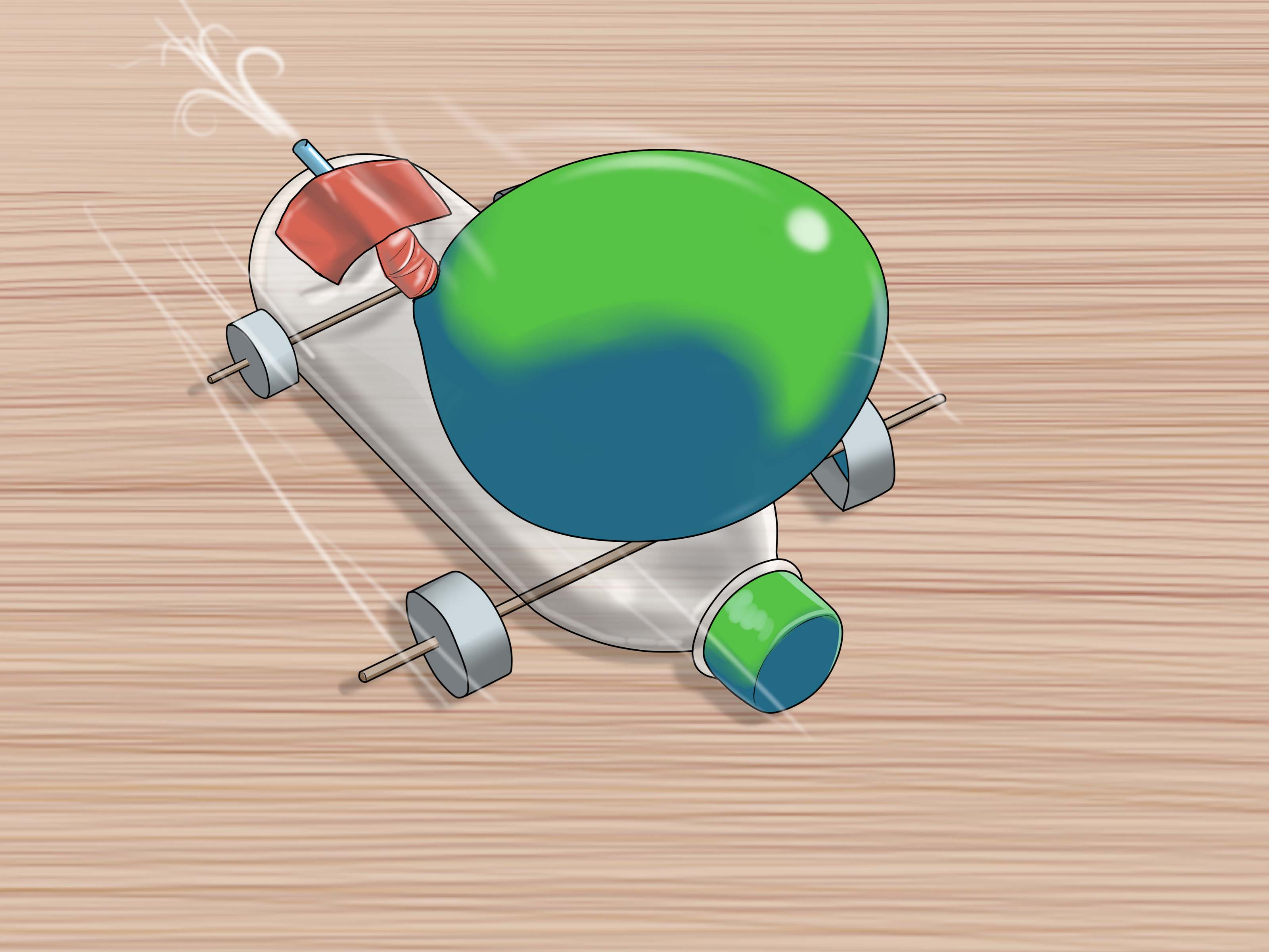 3 Ways To Make A Balloon Car