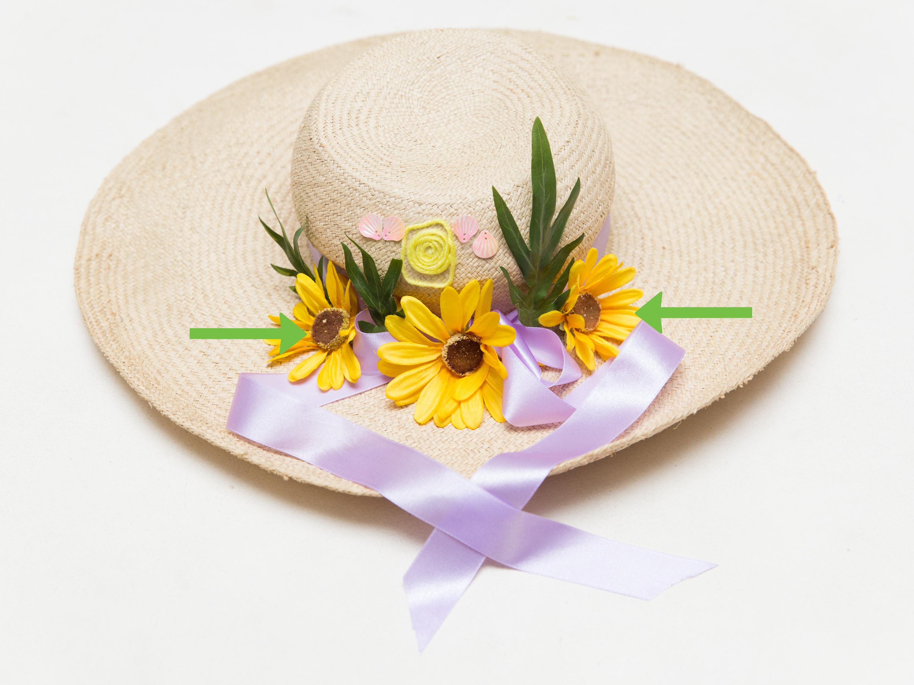 Fresh Flowers Decorating Hats