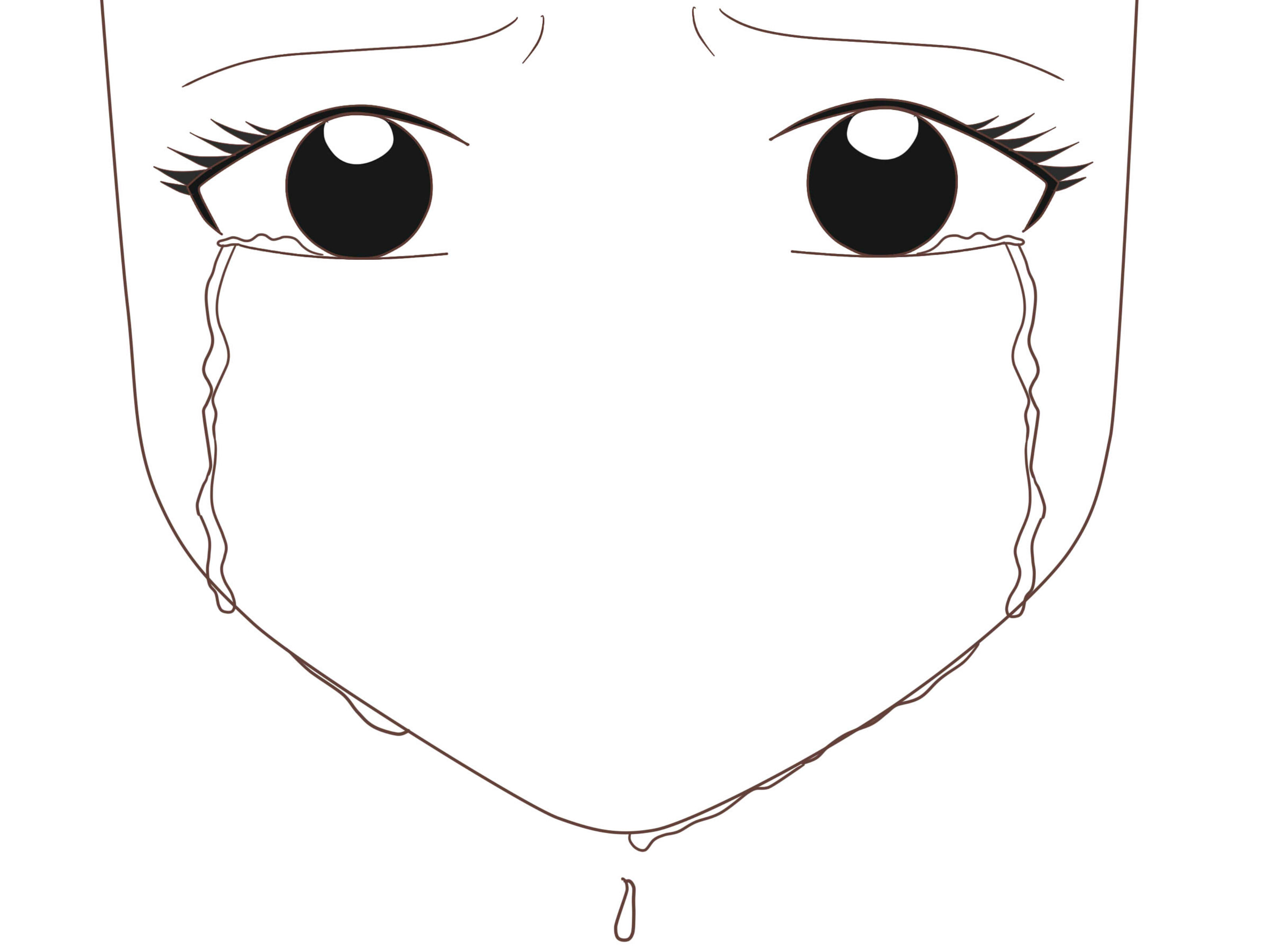 How To Draw An Anime Eye Crying 7 Steps With Pictures