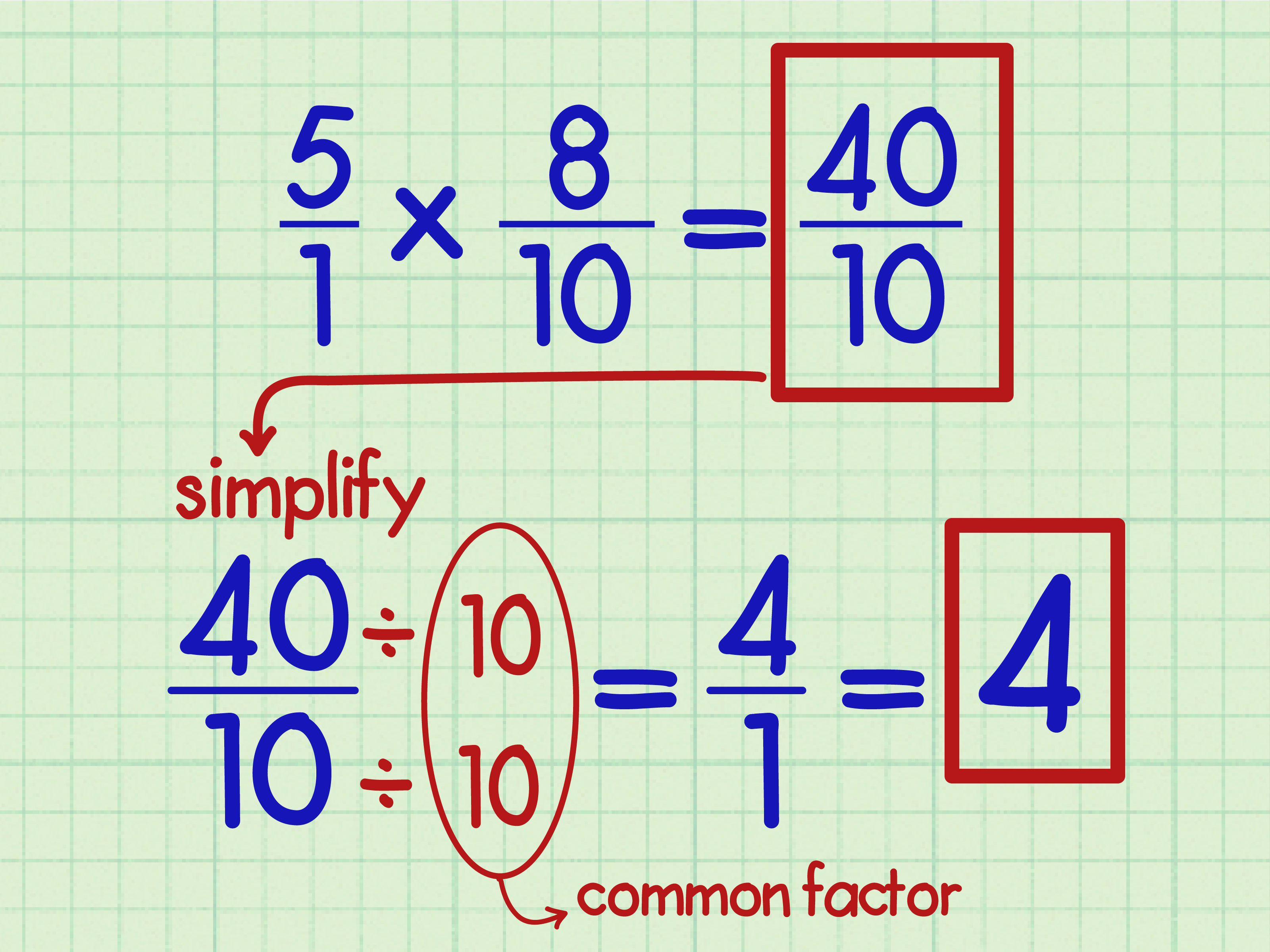 How To Multiply Fractions With Whole Numbers 9 Steps