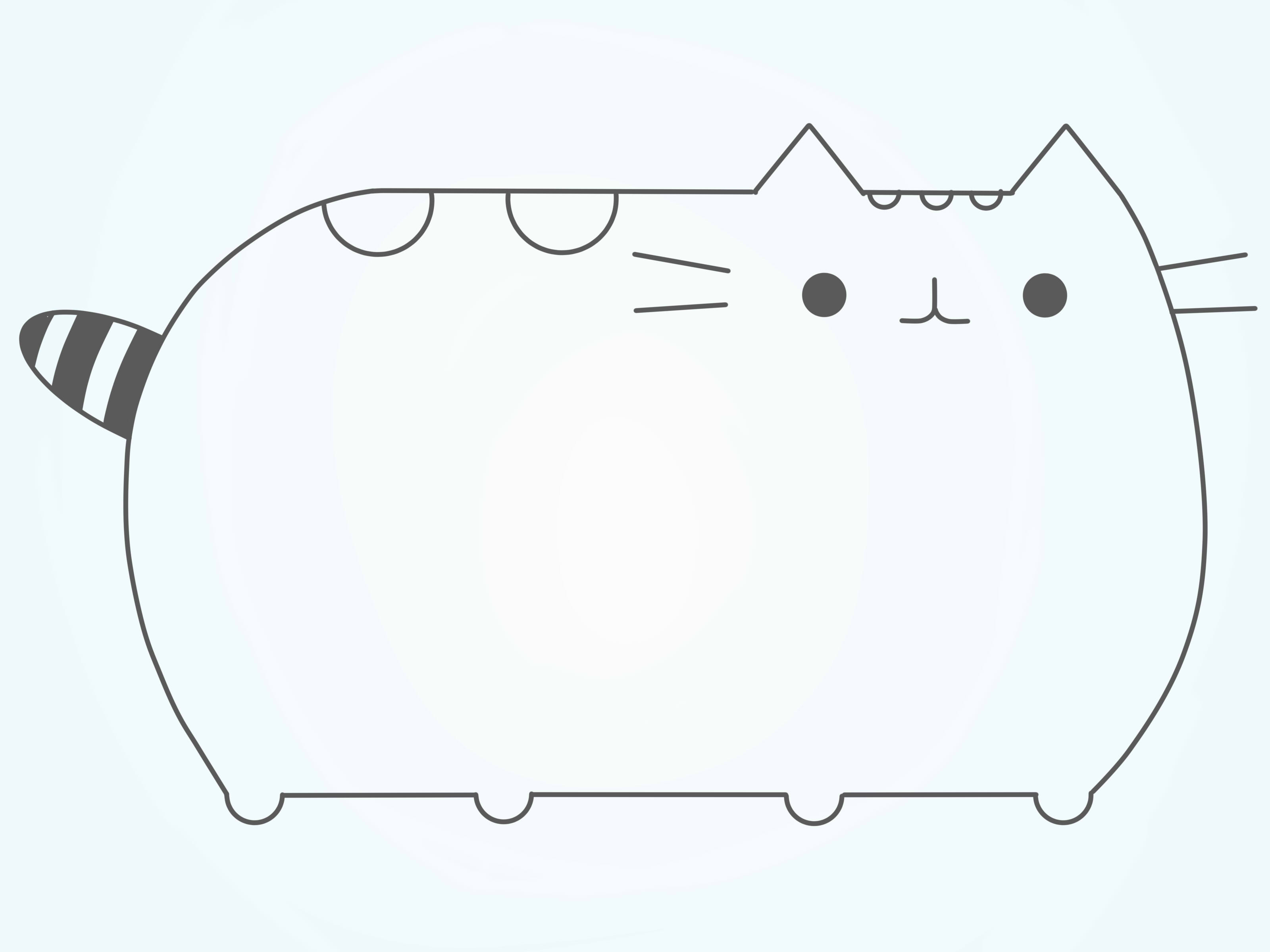 How To Draw Pusheen The Cat 9 Steps With Pictures