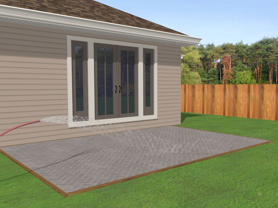 How to Lay a Brick Patio: 14 Steps (with Pictures) - wikiHow on Backyard Brick Patio id=13787