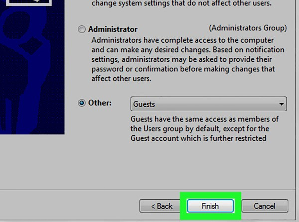 How to Create a Second Guest Account in Windows 7: 4 Steps