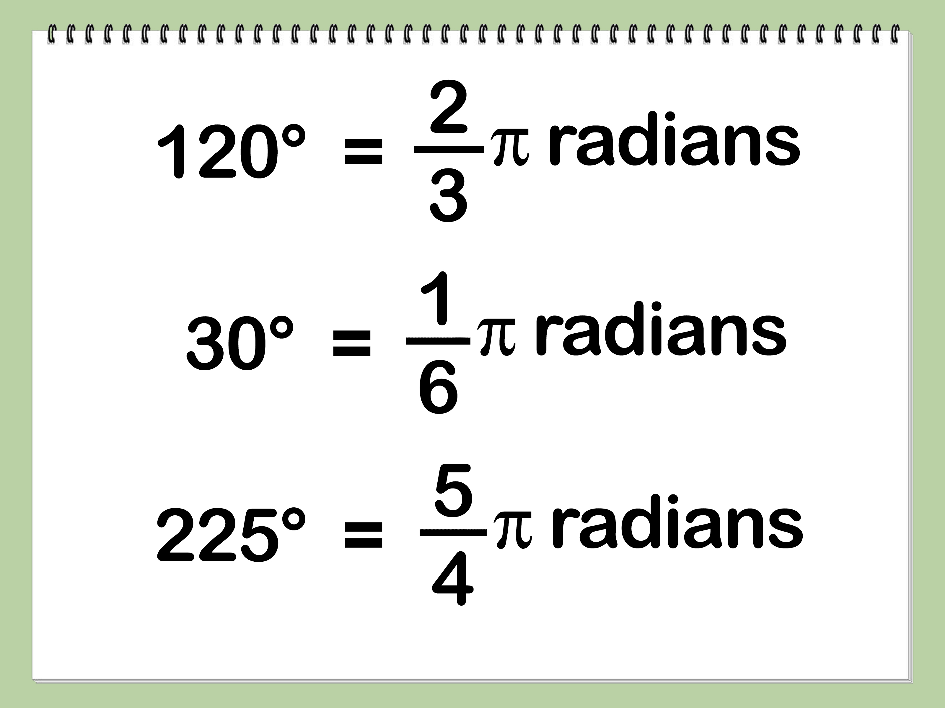 Degree How To Convert Degrees To Radians
