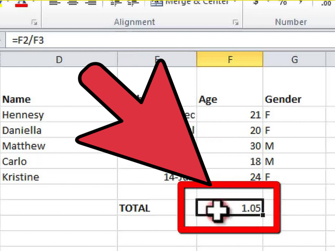 How To Divide In Excel With Pictures