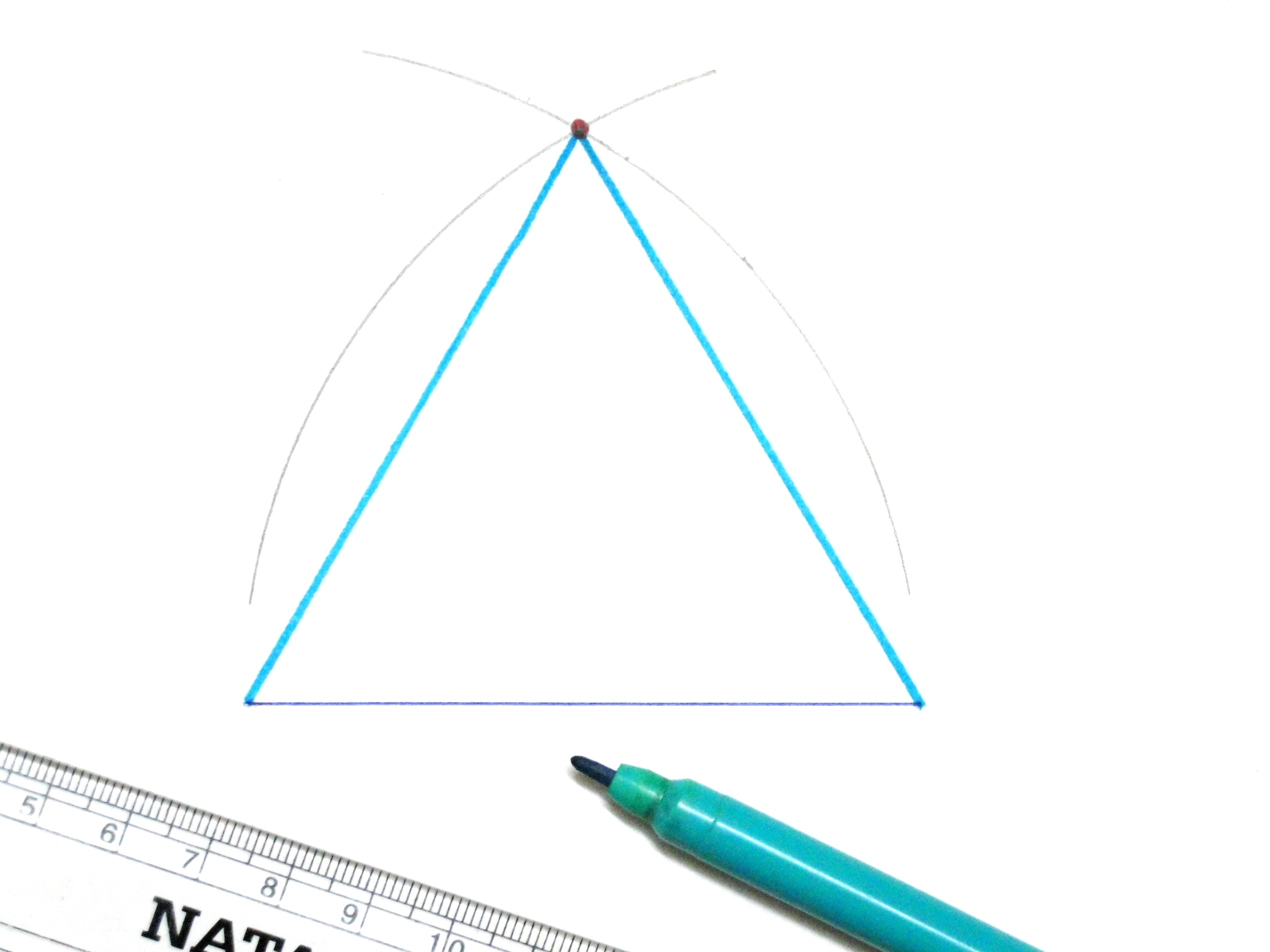 How To Draw An Equilateral Triangle 11 Steps With Pictures