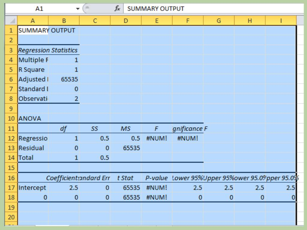 How To Run Regressionysis In Microsoft Excel With