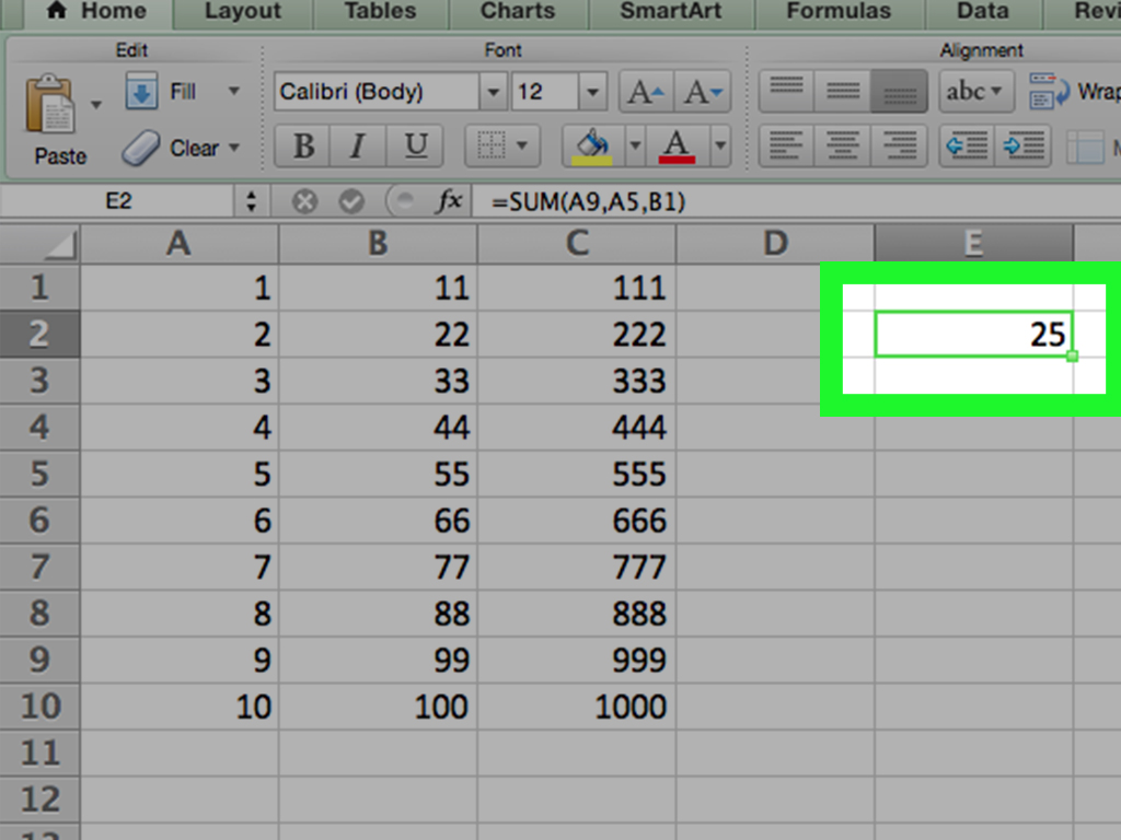 How To Add Two Cells Already Containing Sum Of Other Formulas