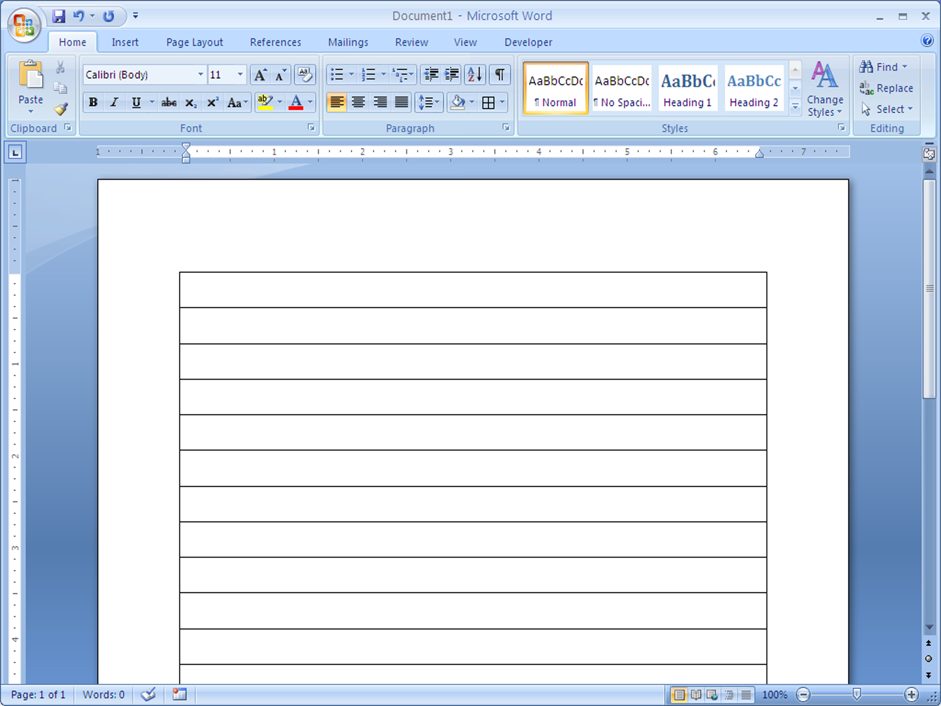 How To Make Lined Paper In Word 4 Steps With Pictures